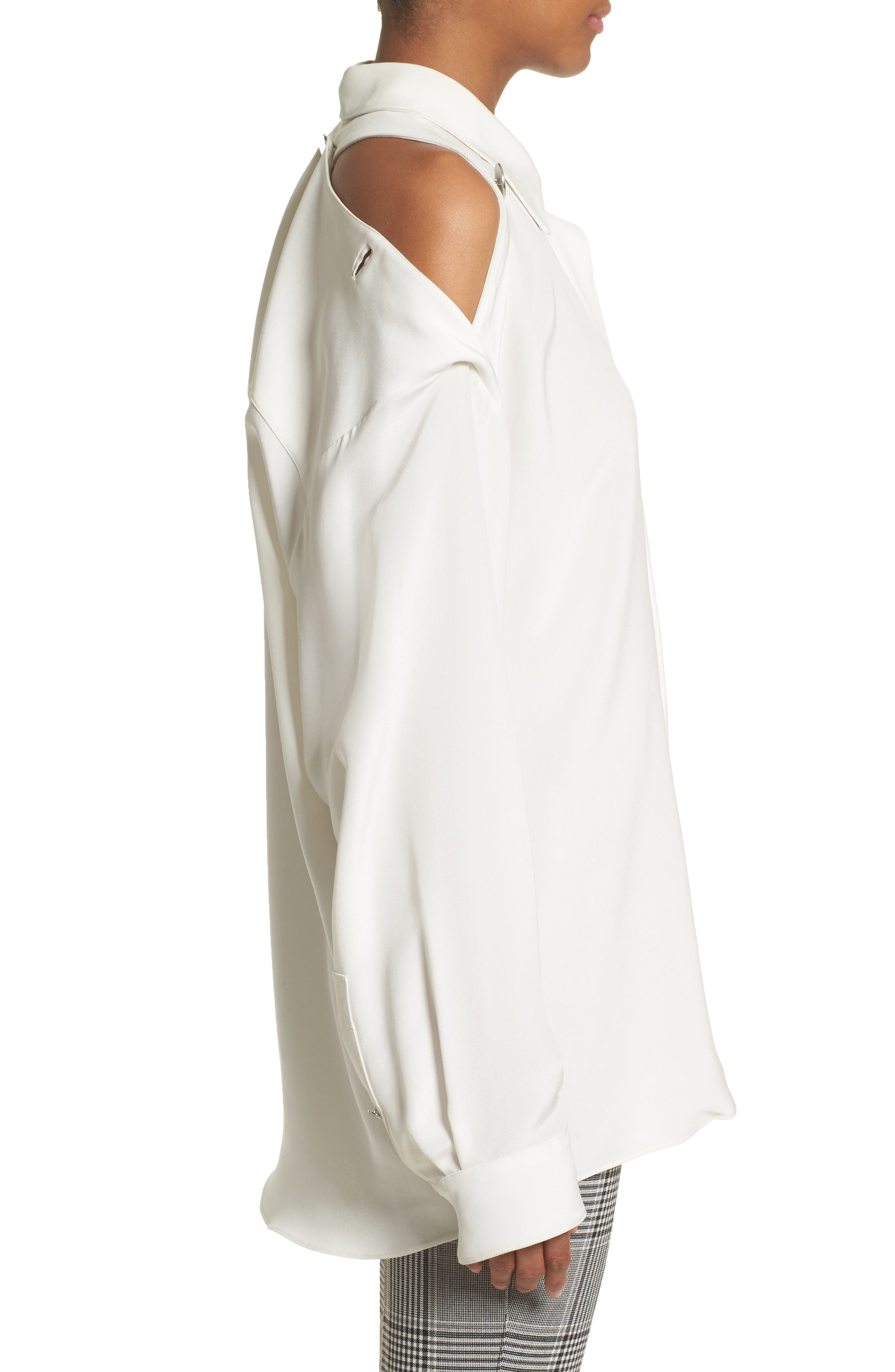 Alternate Image 4  - Alexander Wang Open Back Silk Blouse