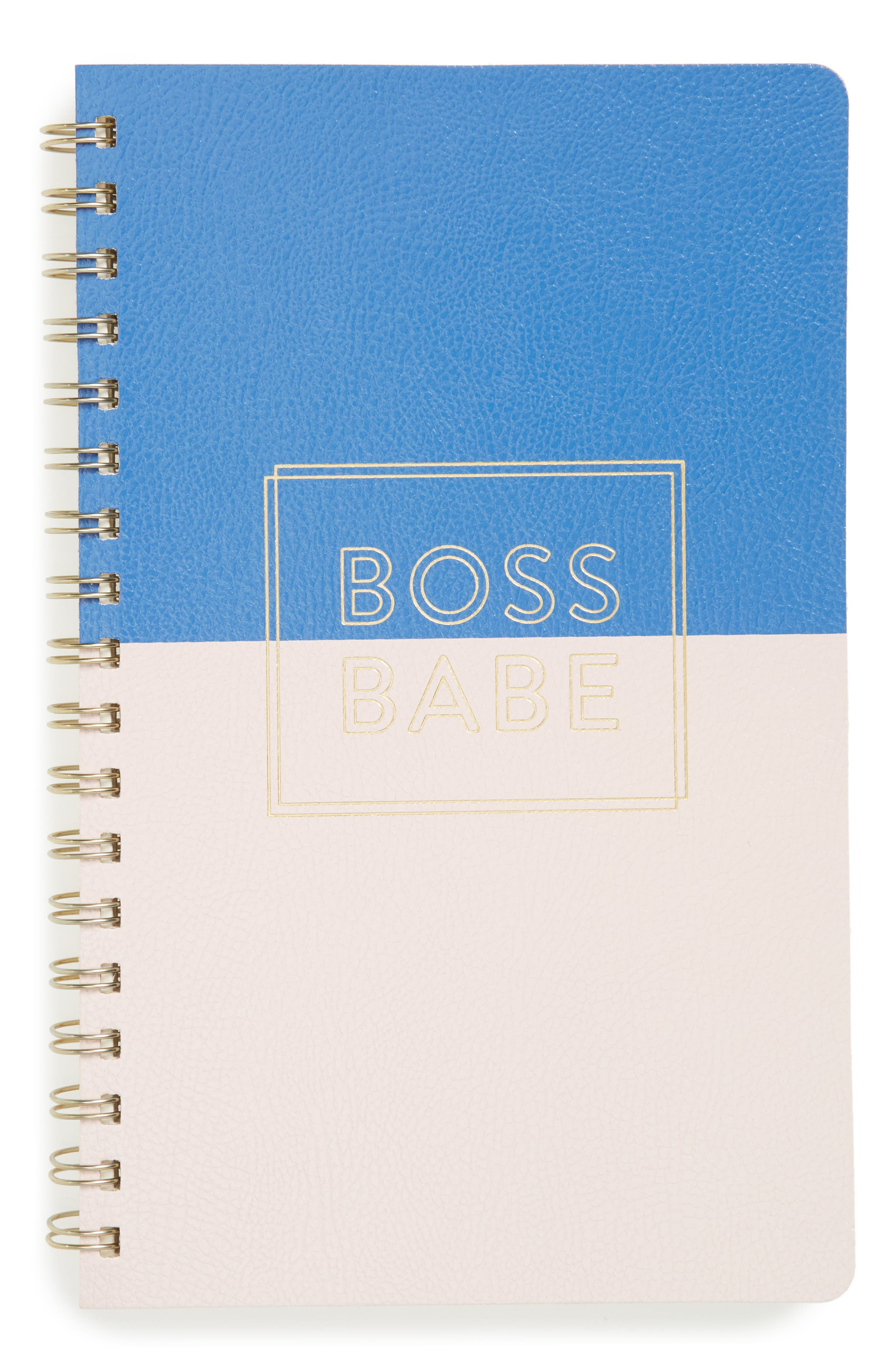 Boss Babe Spiral Notebook,                         Main,                         color, Pink
