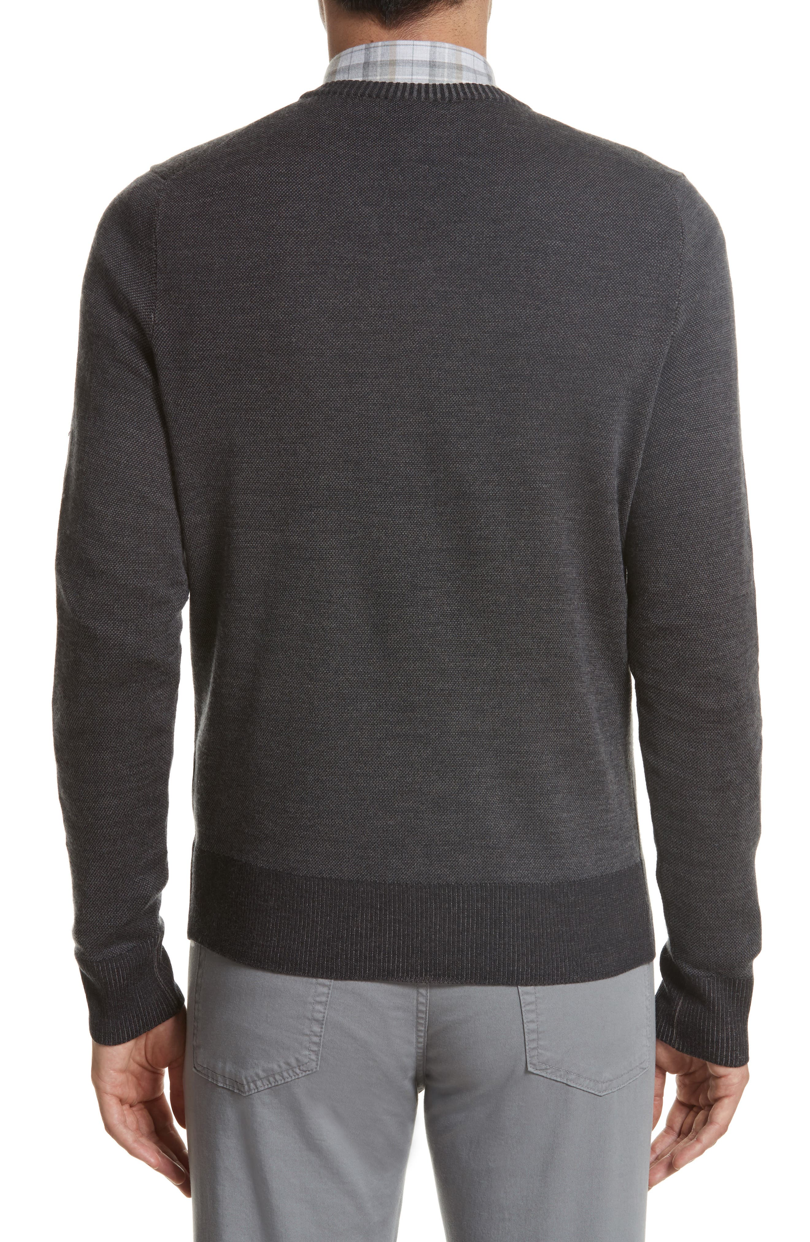 Regular Fit Wool Sweater,                             Alternate thumbnail 2, color,                             Charcoal