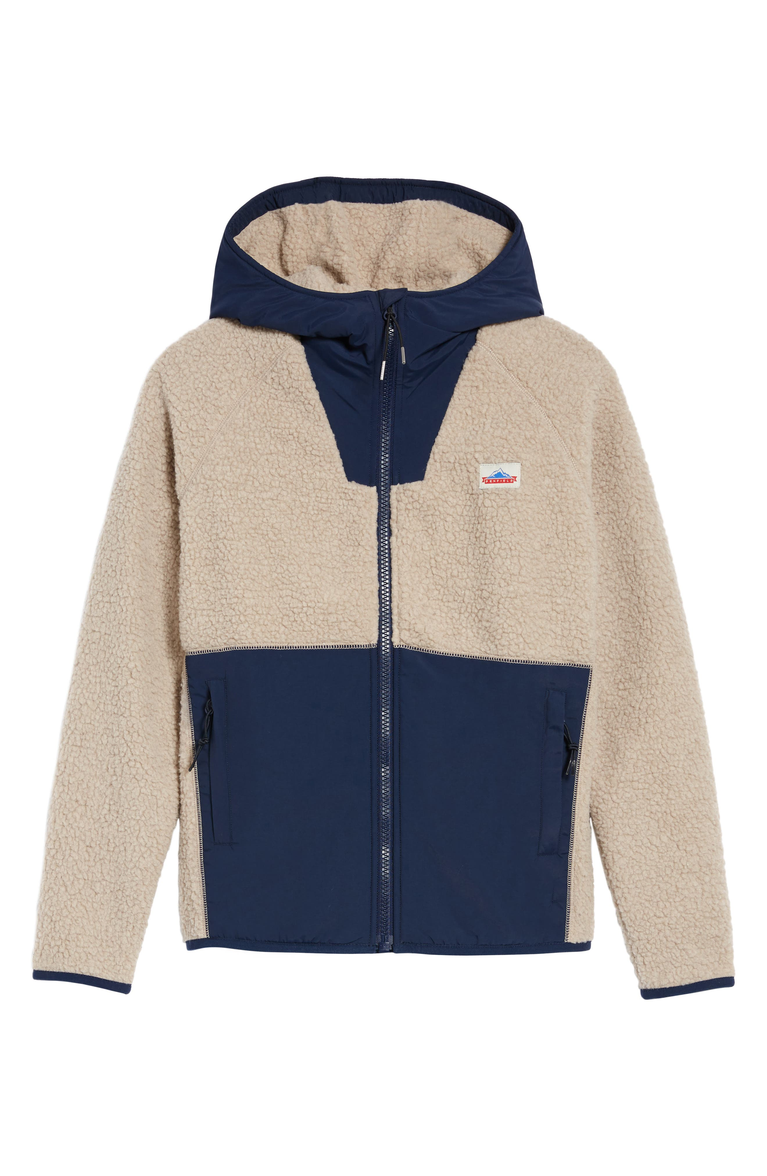 Vaughn Fleece Jacket,                             Alternate thumbnail 6, color,                             Tan