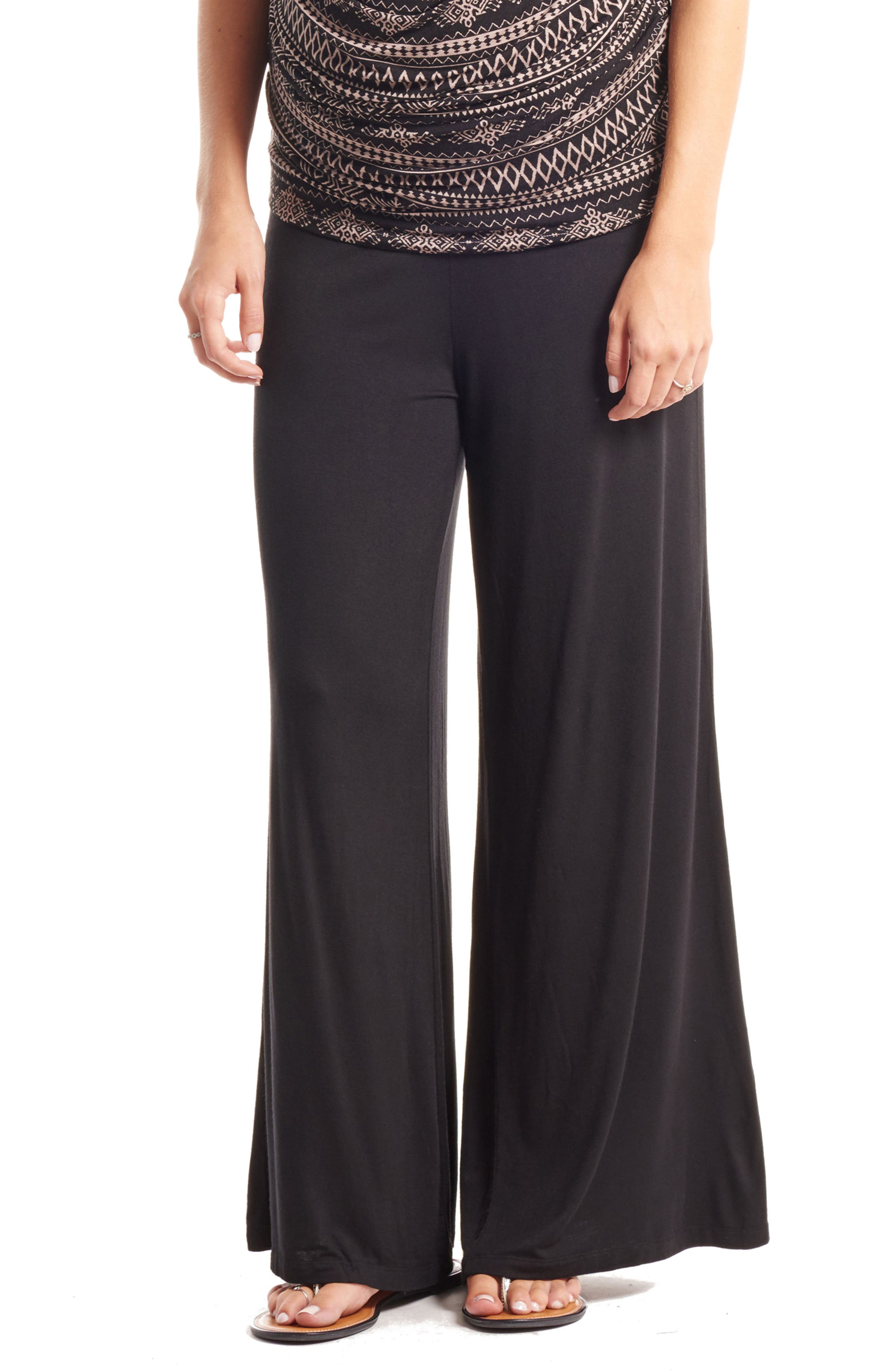 'Isla' Maternity Pants,                         Main,                         color, Black Noir