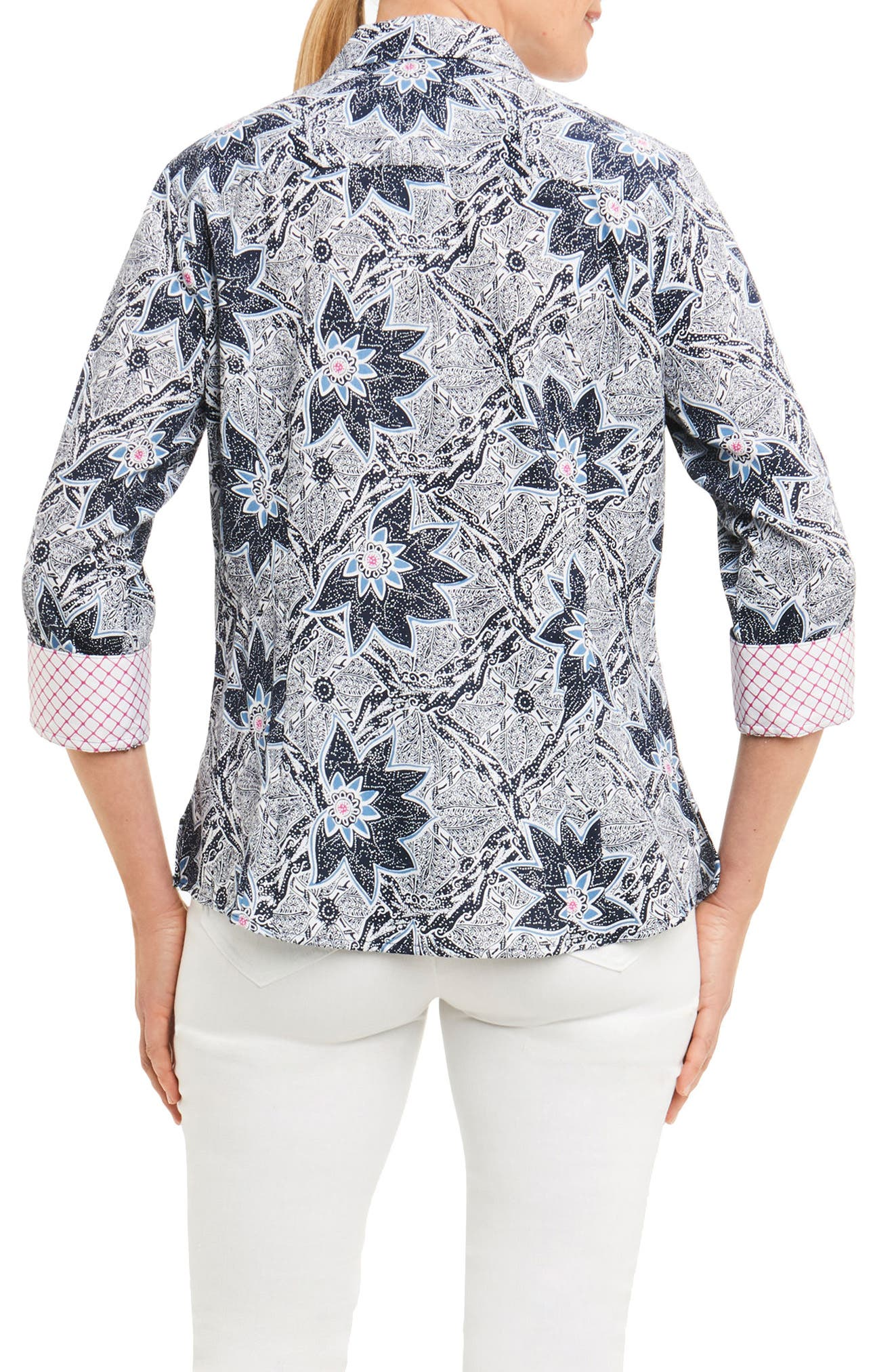 Alternate Image 2  - Foxcroft Taylor Summer Floral Shirt (Regular & Petite)