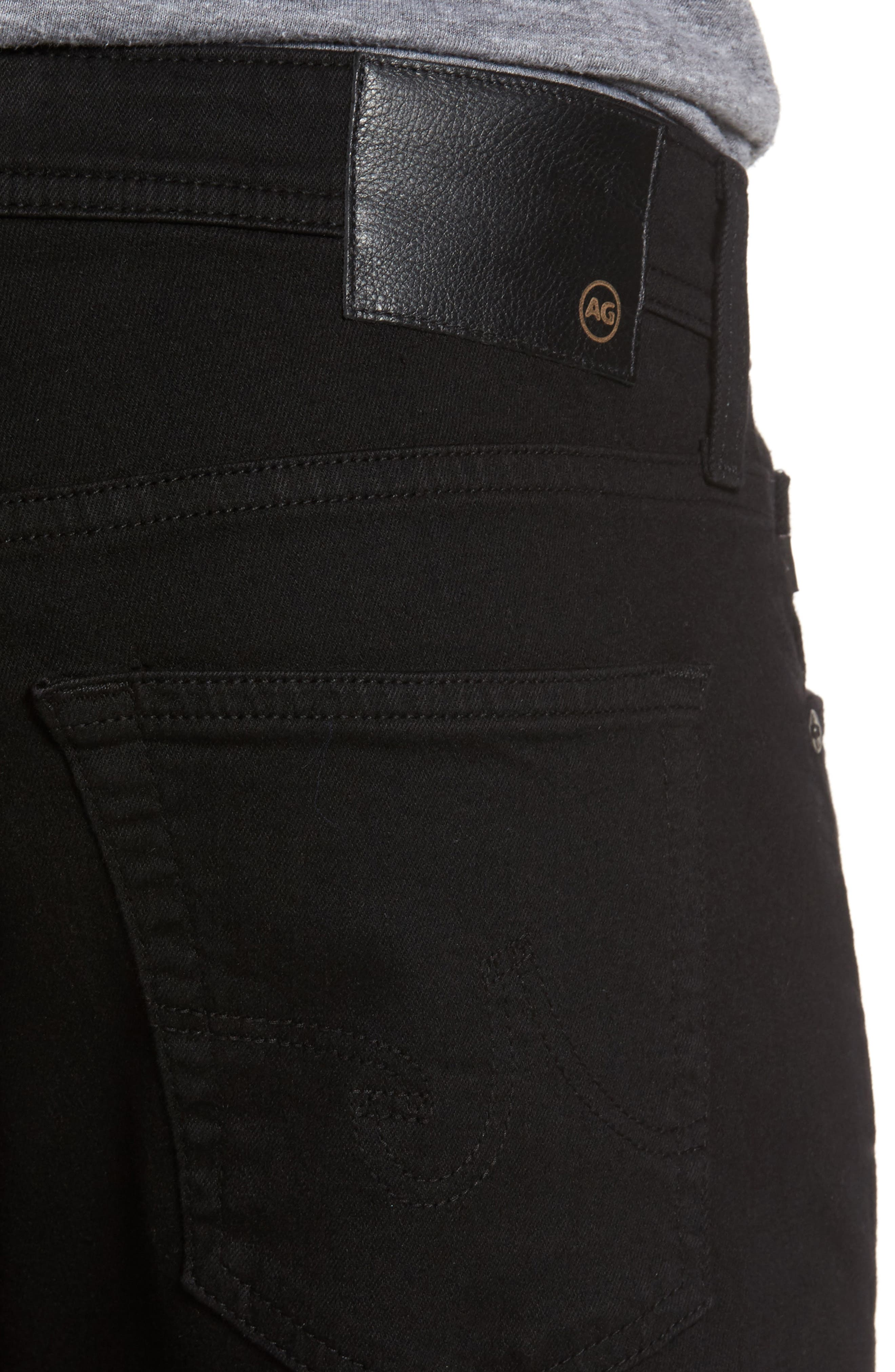 Everett Slim Straight Fit Jeans,                             Alternate thumbnail 4, color,                             Black Soot