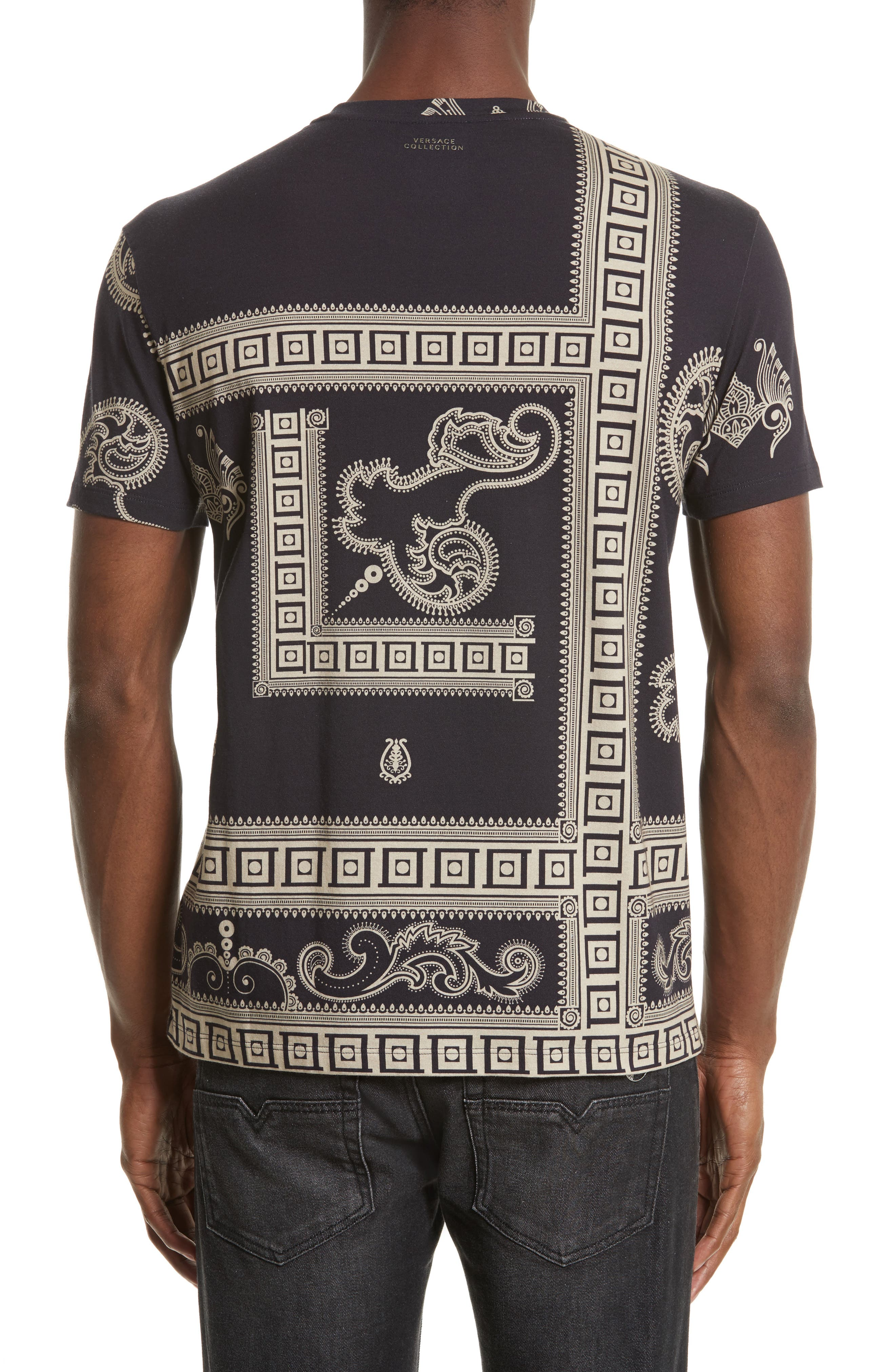 Alternate Image 2  - Versace Collection Paisley Frame Print T-Shirt