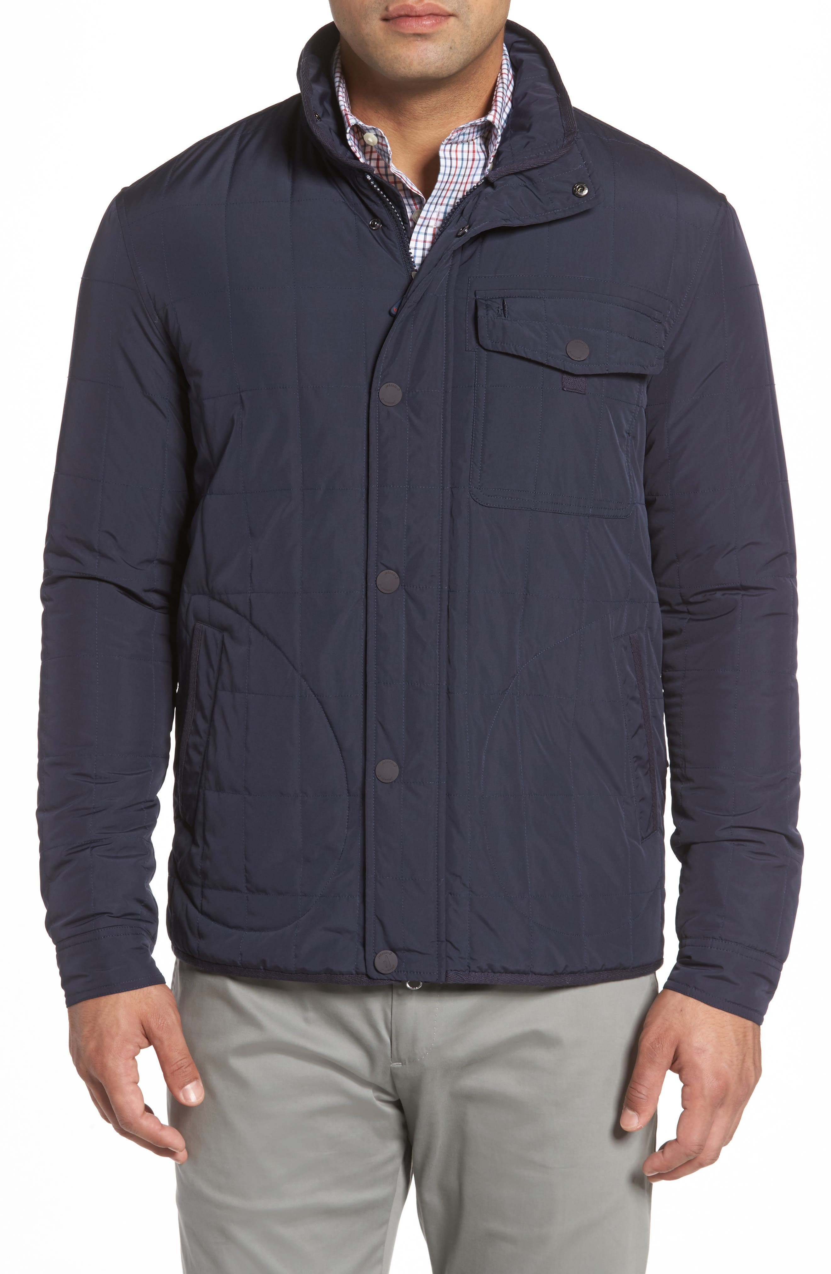 Midtown Quilted Jacket,                             Main thumbnail 1, color,                             Abyss