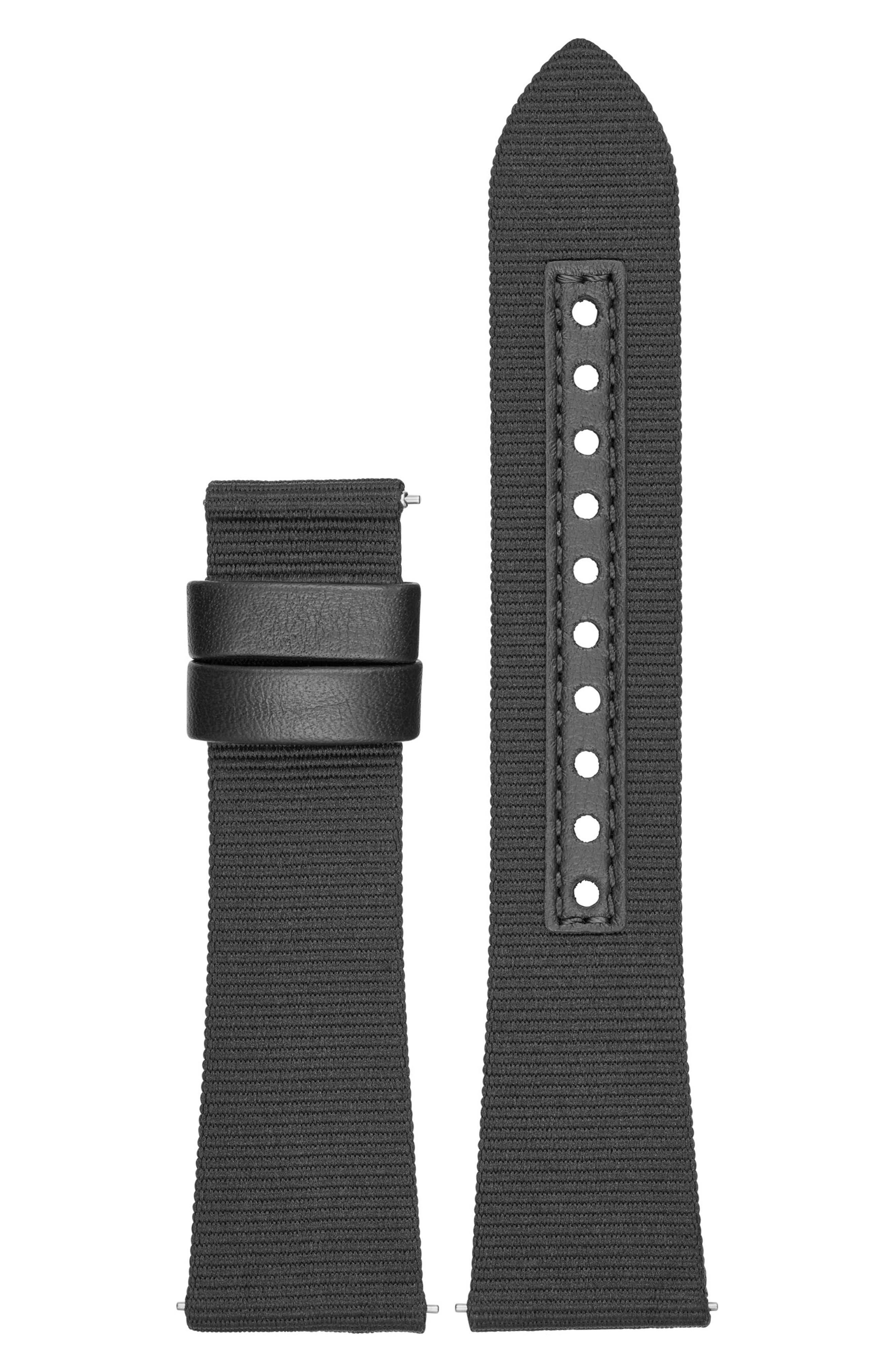 Alternate Image 2  - Emporio Armani 22mm Canvas Watch Strap
