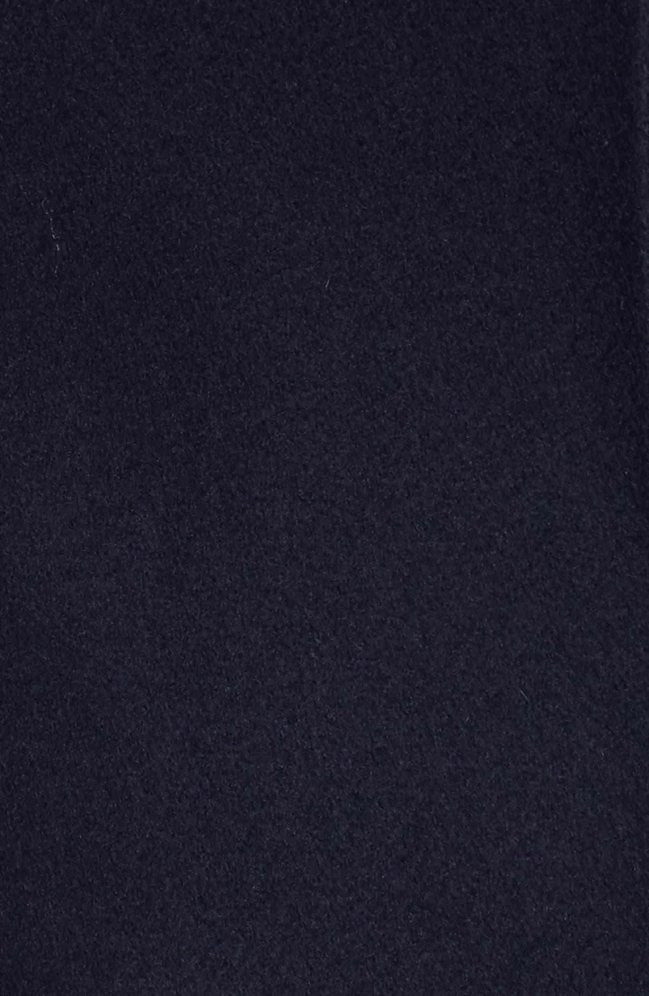 Wool Blend Asymmetrical Skirted Coat,                             Alternate thumbnail 5, color,                             Navy