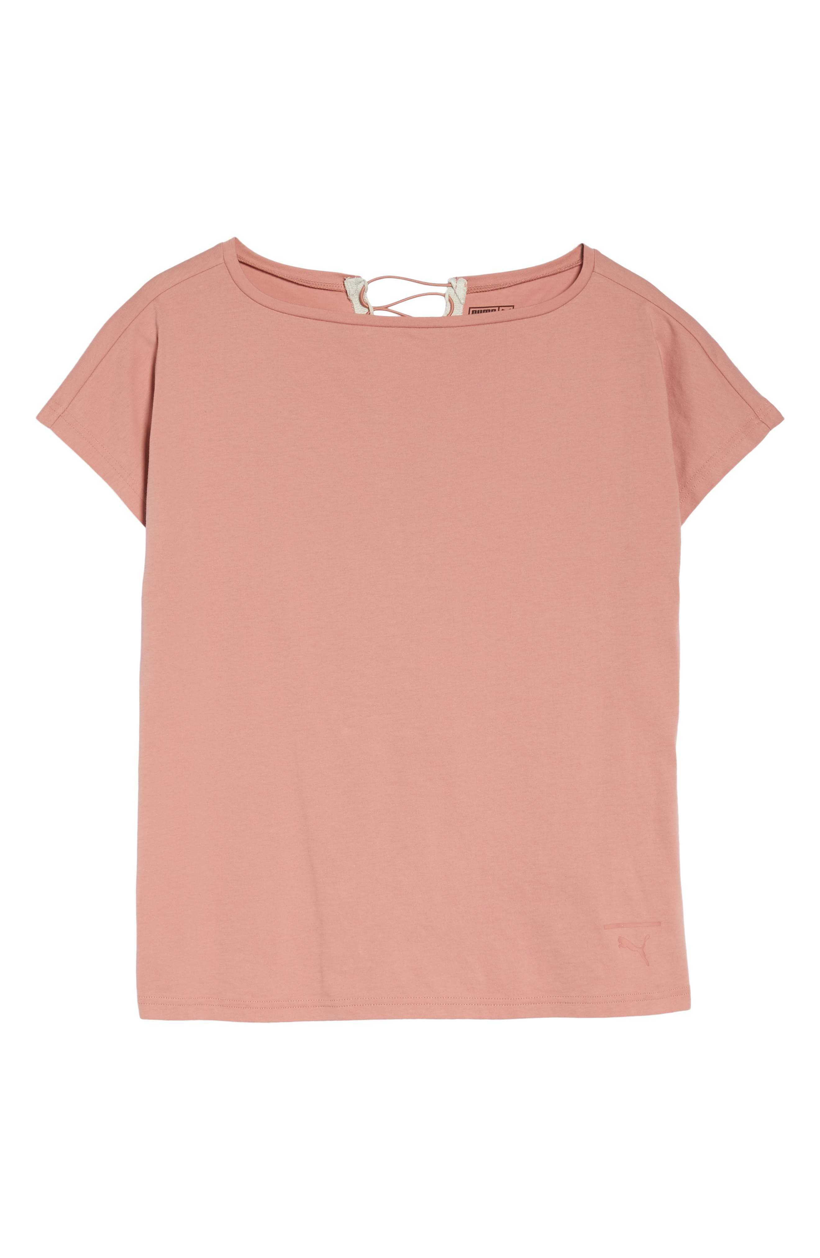 Lux Crisscross Tee,                             Alternate thumbnail 7, color,                             Cameo Brown