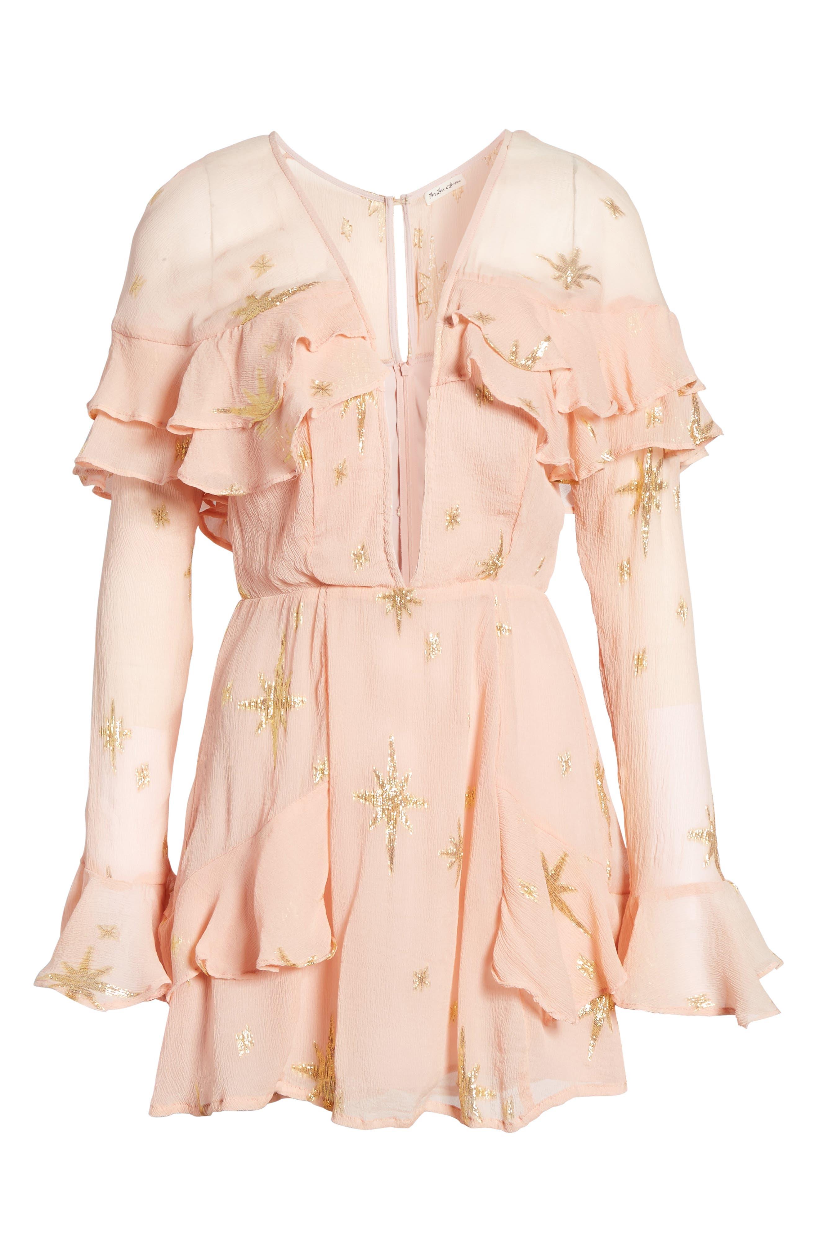 Alternate Image 6  - For Love & Lemons Gilded Star Minidress