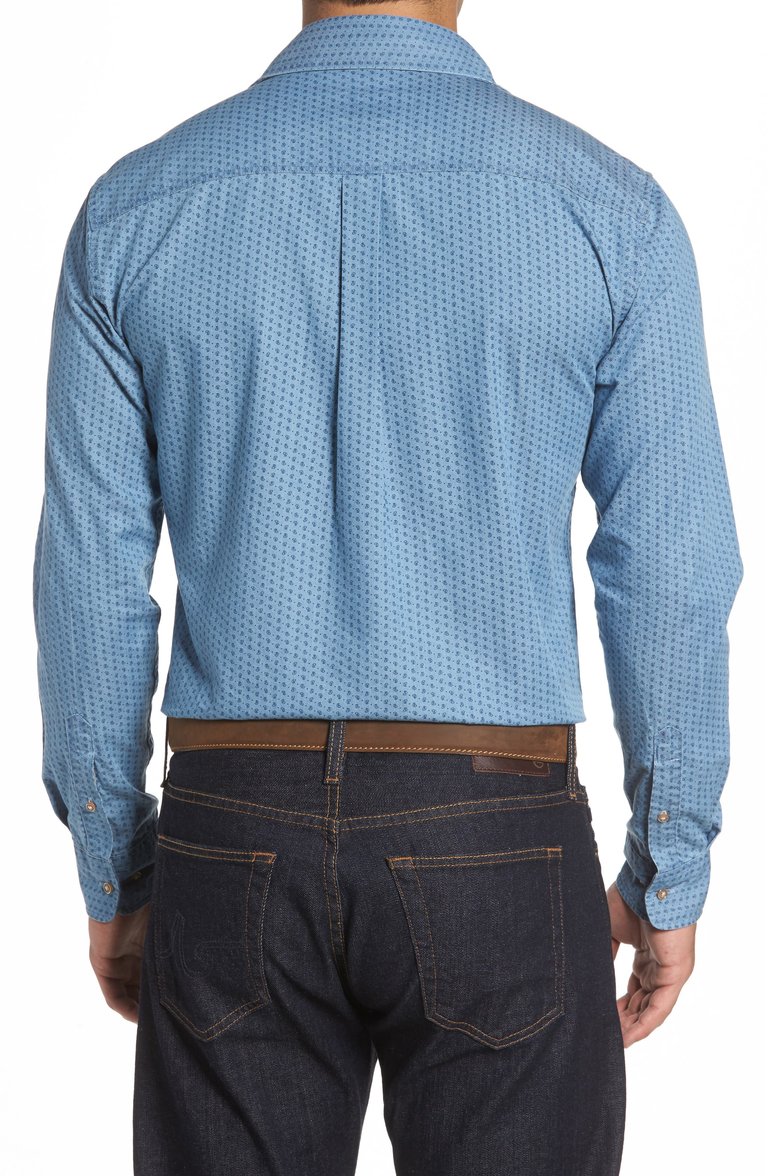 Alternate Image 2  - johnnie-O Capetown Classic Fit Paisley Sport Shirt