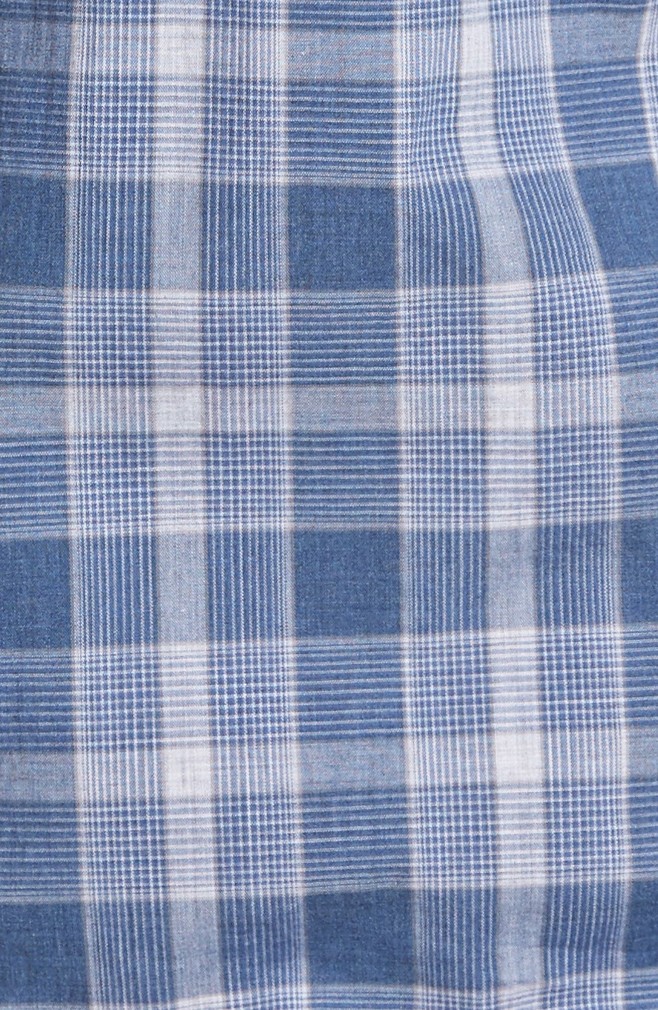 Highlands Classic Fit Plaid Sport Shirt,                             Alternate thumbnail 5, color,                             Abyss