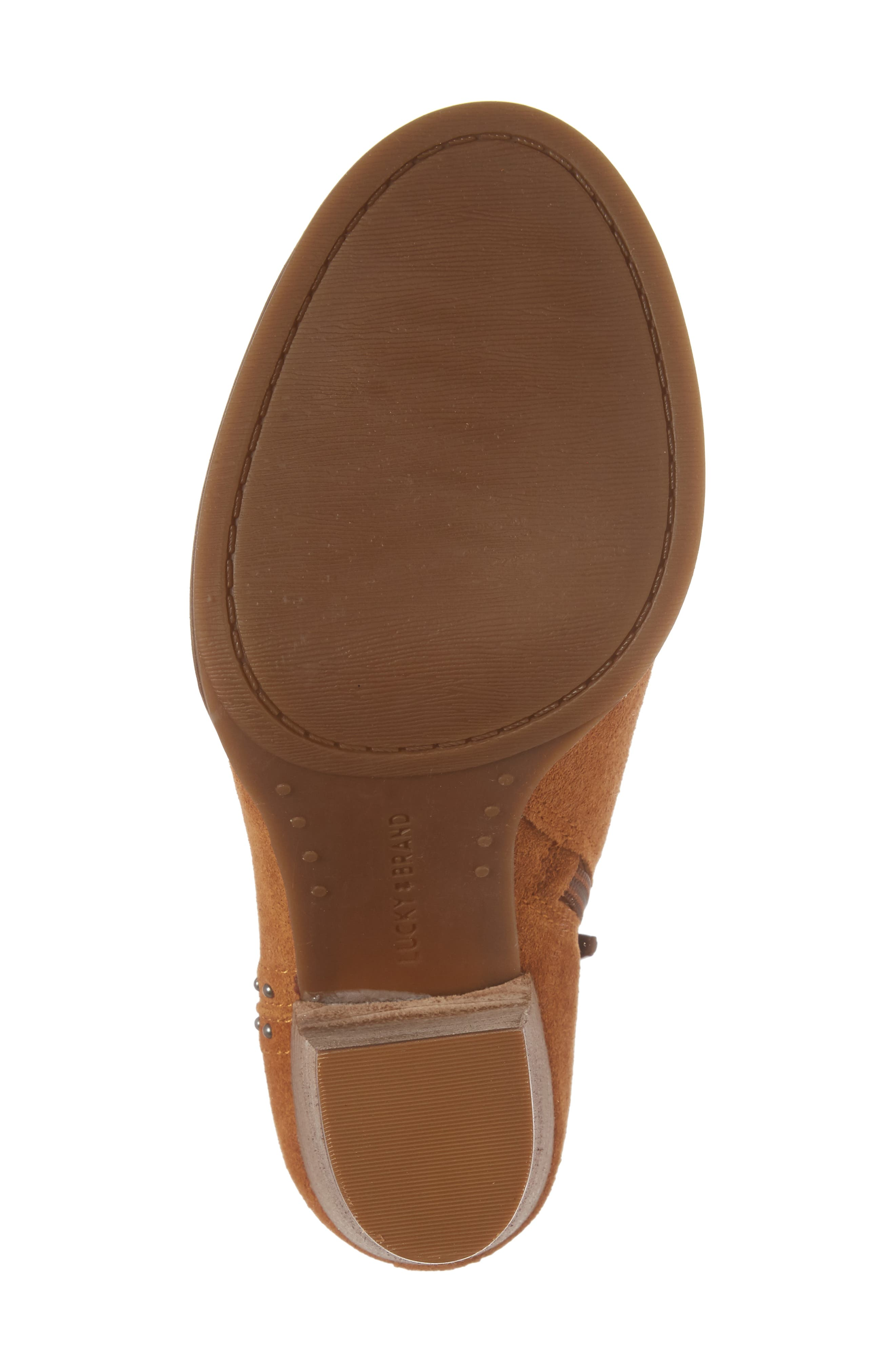Alternate Image 6  - Lucky Brand Lotisha Studded Open Toe Bootie (Women)