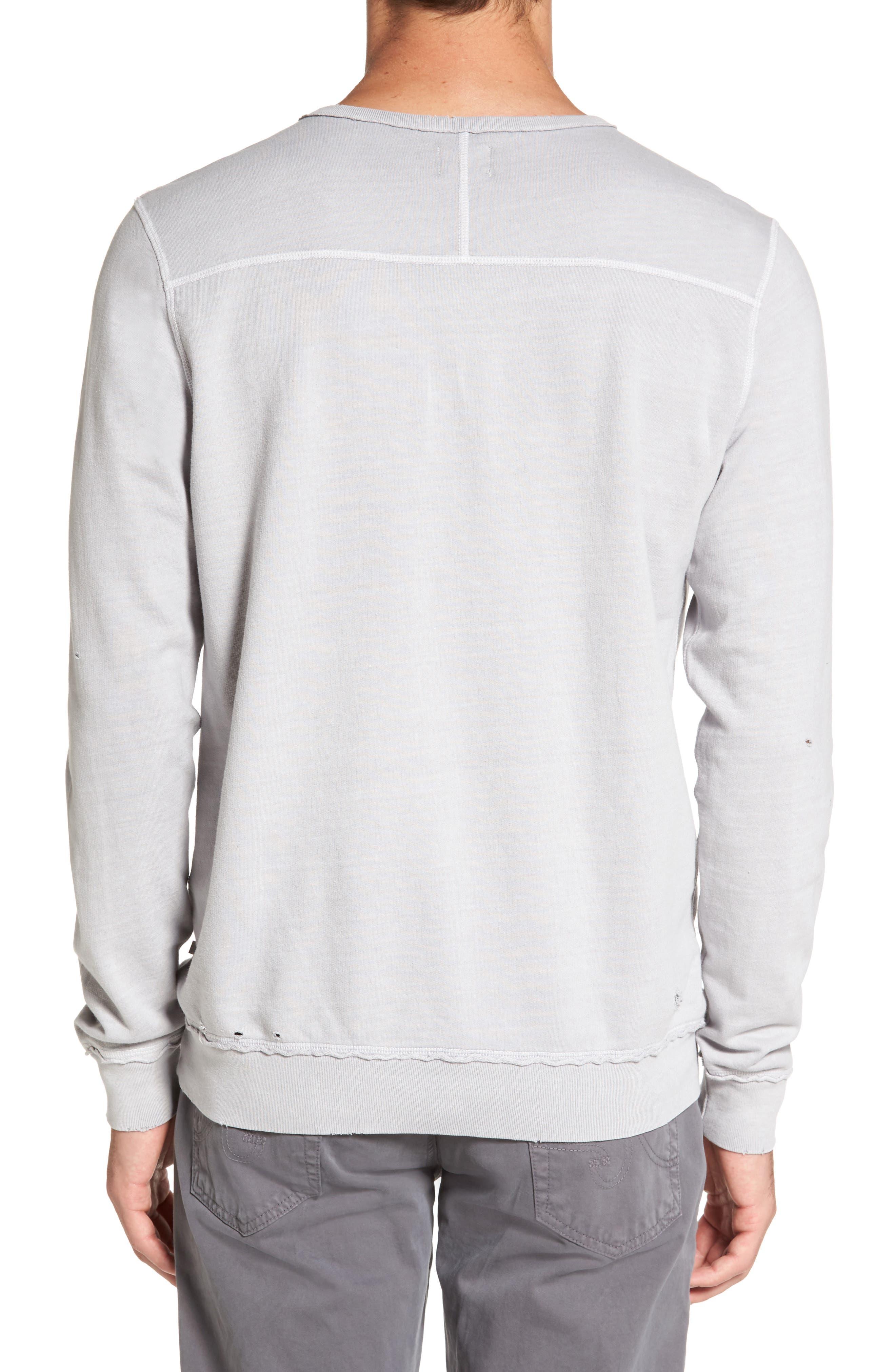 Brendan Raw Edge Crewneck Sweatshirt,                             Alternate thumbnail 2, color,                             Pigment Chrome