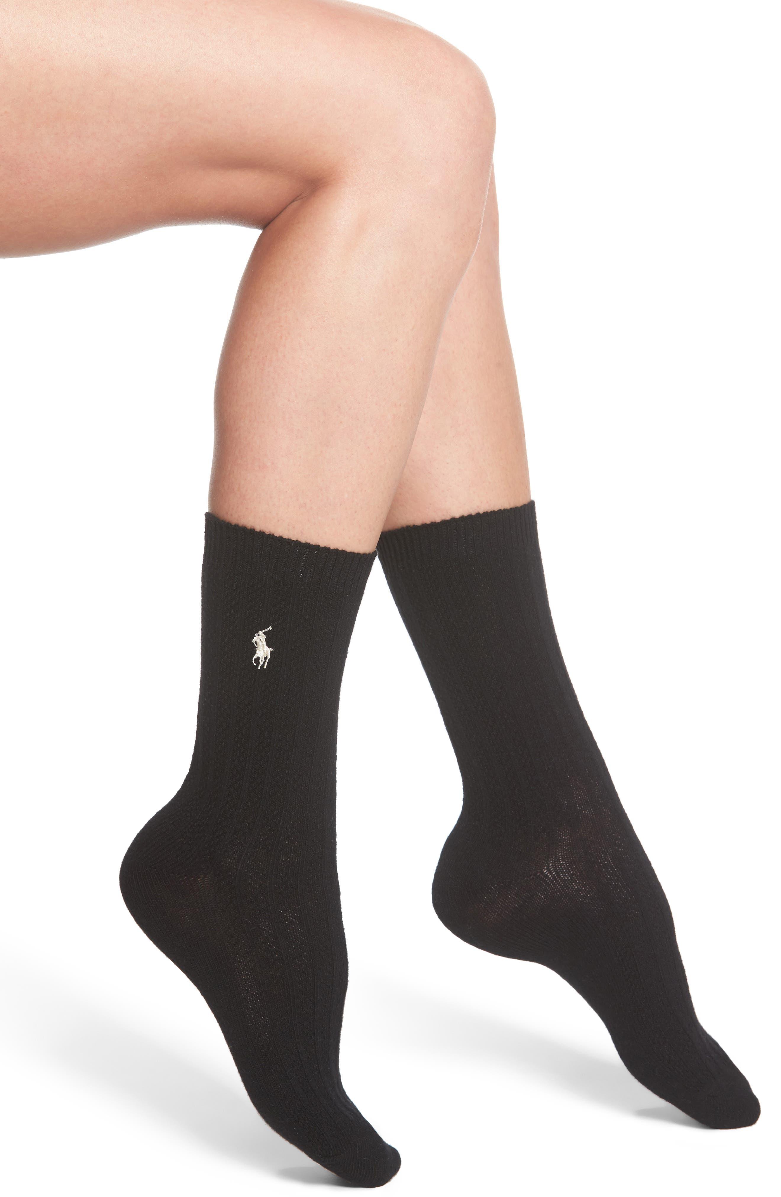 Ralph Lauren Texture Rib Boot Socks (2 for $24)