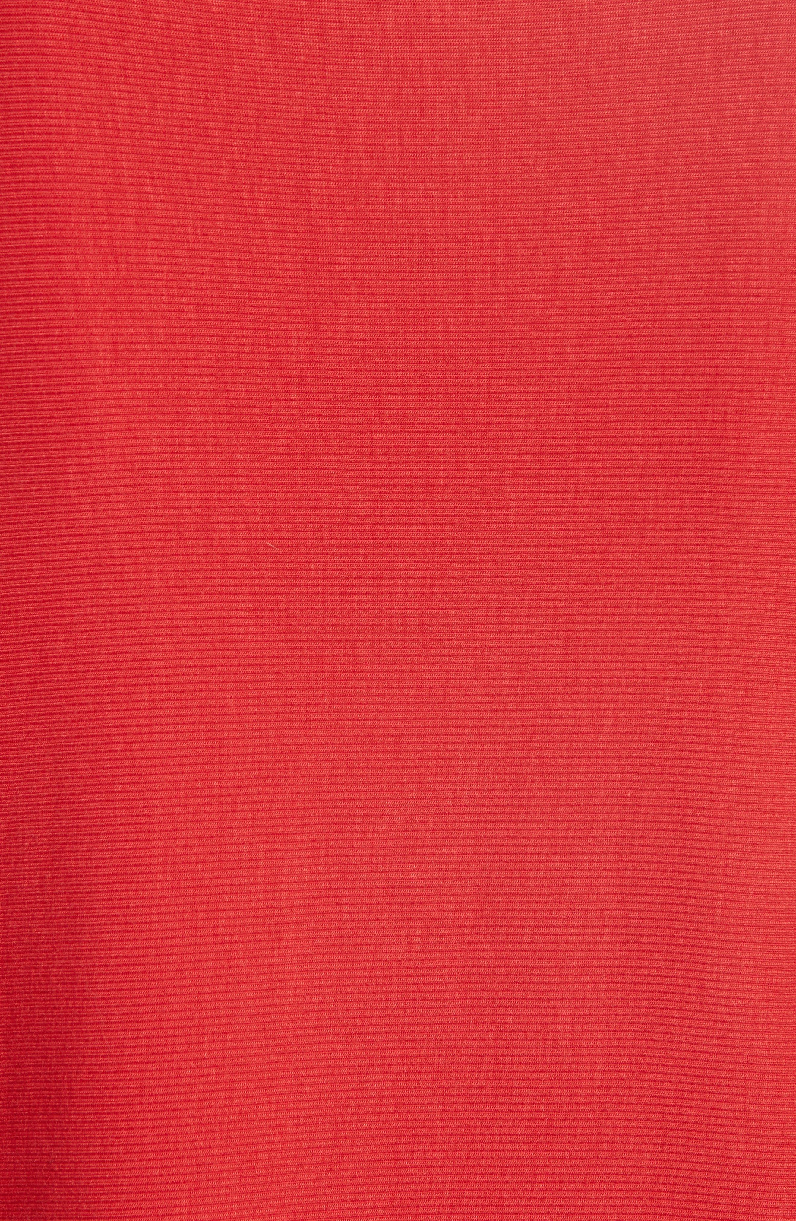 Alameda Turtleneck Top,                             Alternate thumbnail 5, color,                             Red