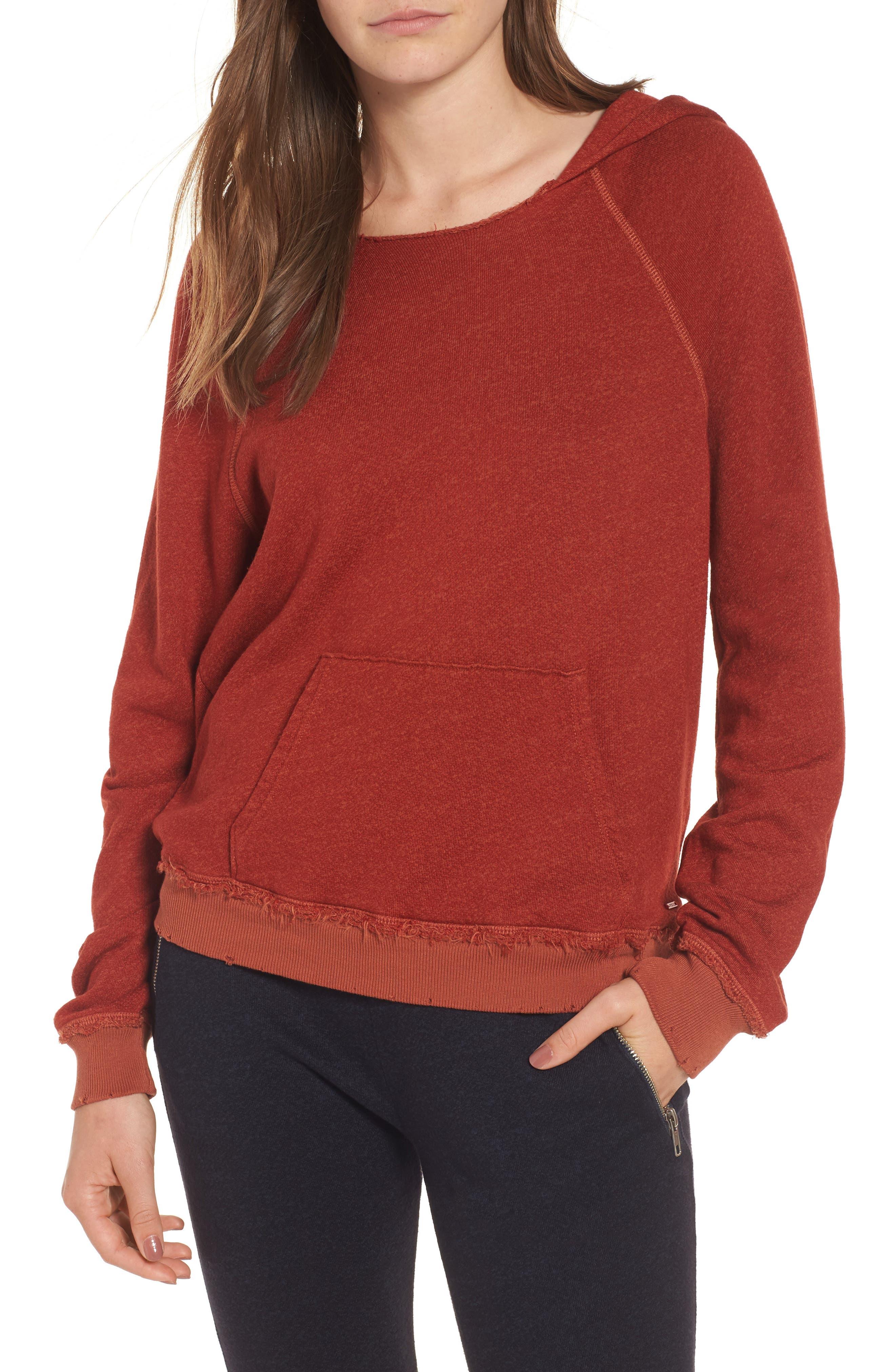 Penny Hooded Sweatshirt,                         Main,                         color, Rust
