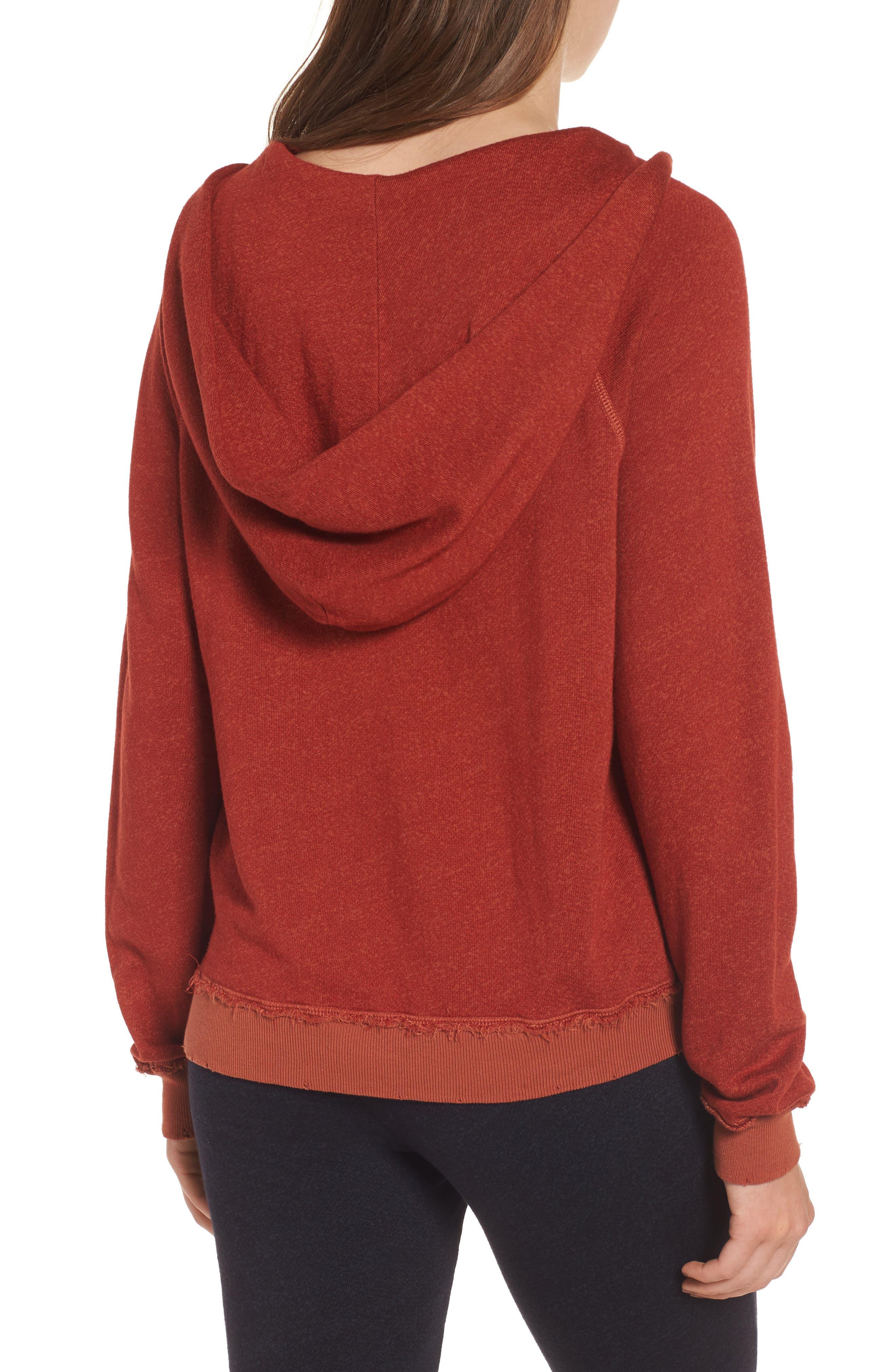 Penny Hooded Sweatshirt,                             Alternate thumbnail 2, color,                             Rust