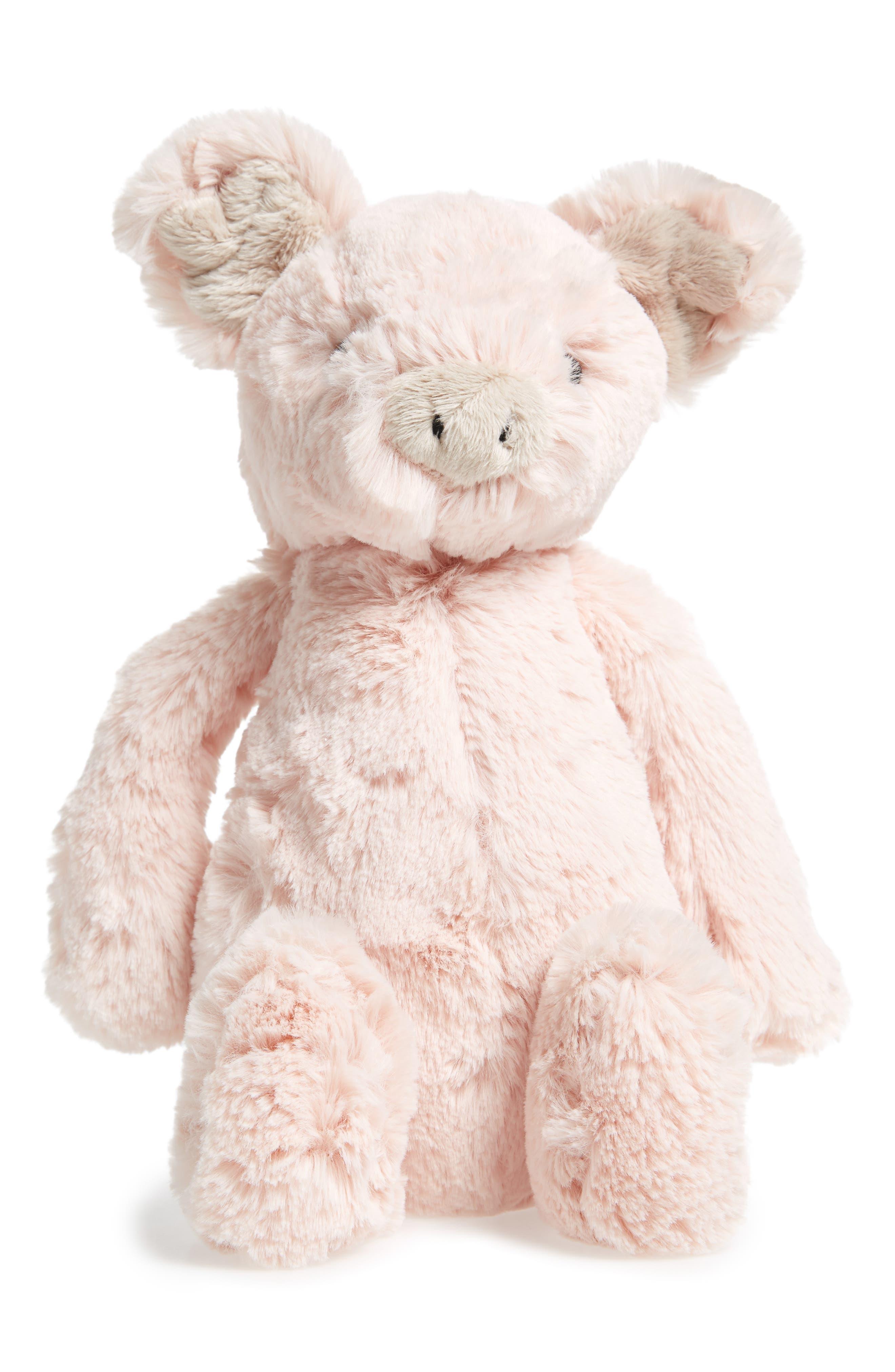 'Bashful Piggy' Stuffed Animal,                             Main thumbnail 1, color,                             Pink