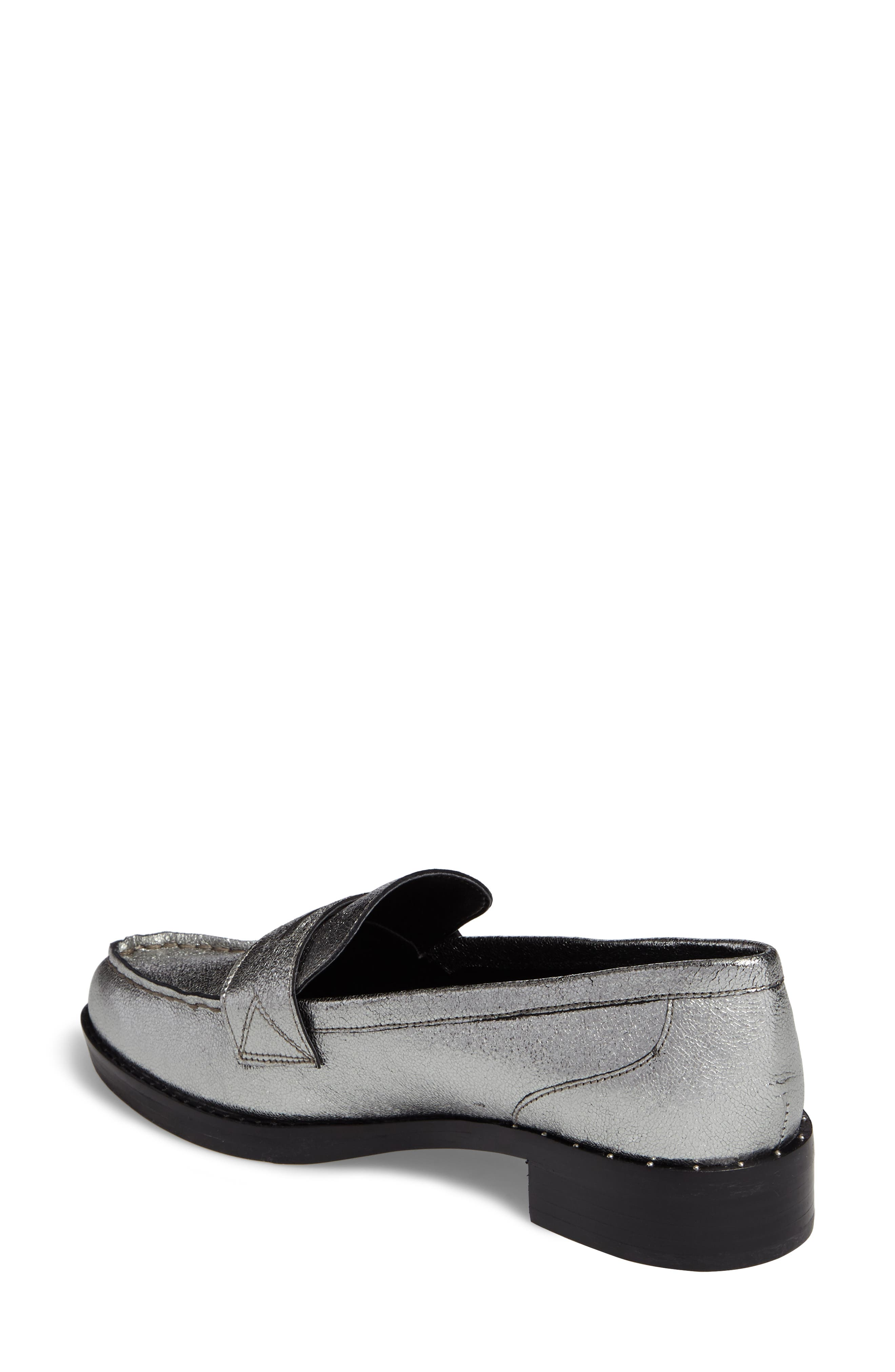 Vero Penny Loafer,                             Alternate thumbnail 2, color,                             Pewter Leather