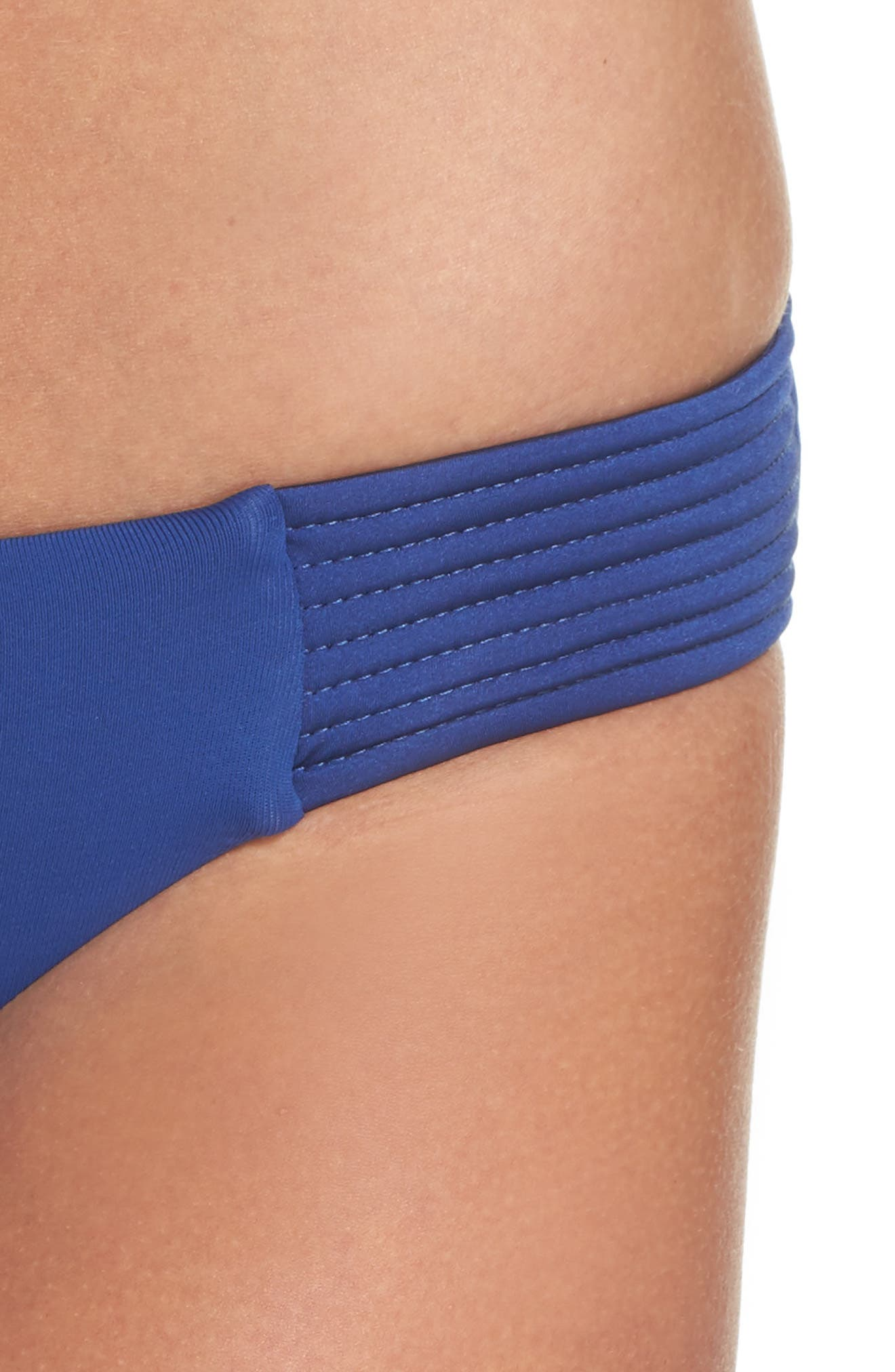 Quilted Bikini Bottoms,                             Alternate thumbnail 4, color,                             French Blue