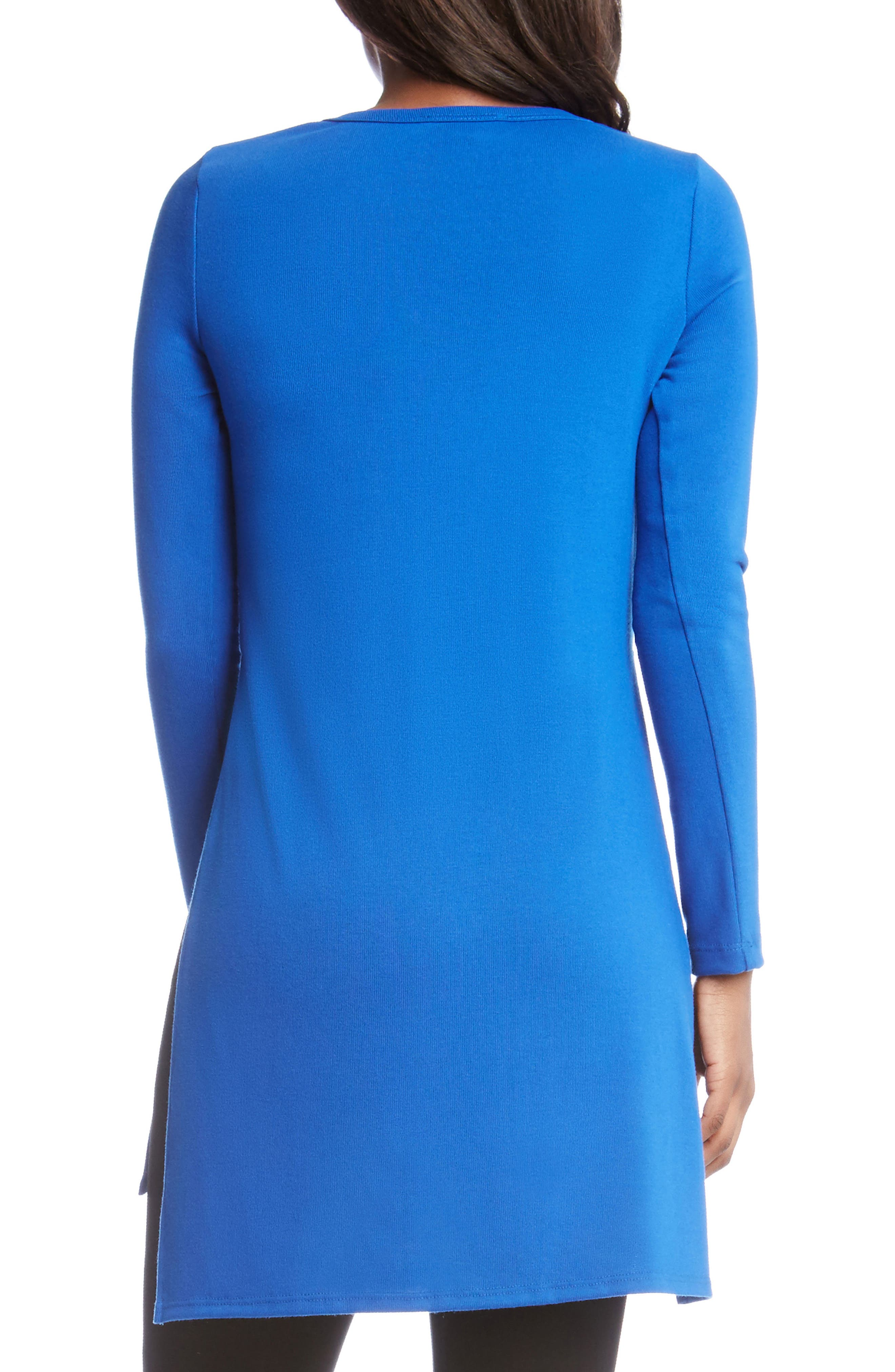 High/Low Sweater Tunic,                             Alternate thumbnail 2, color,                             Sapphire Blue