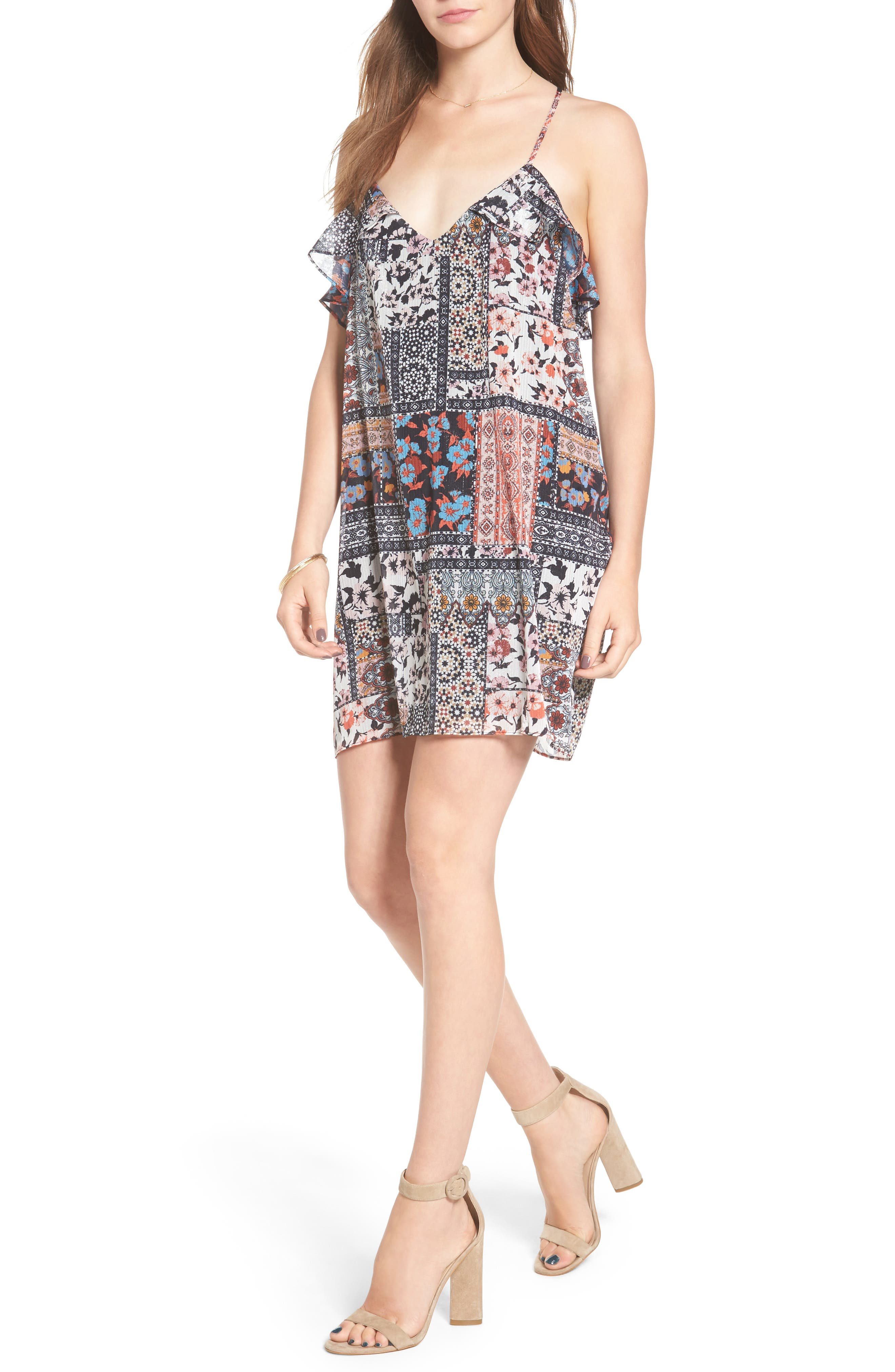 Alternate Image 1 Selected - devlin Margot Ruffle Minidress
