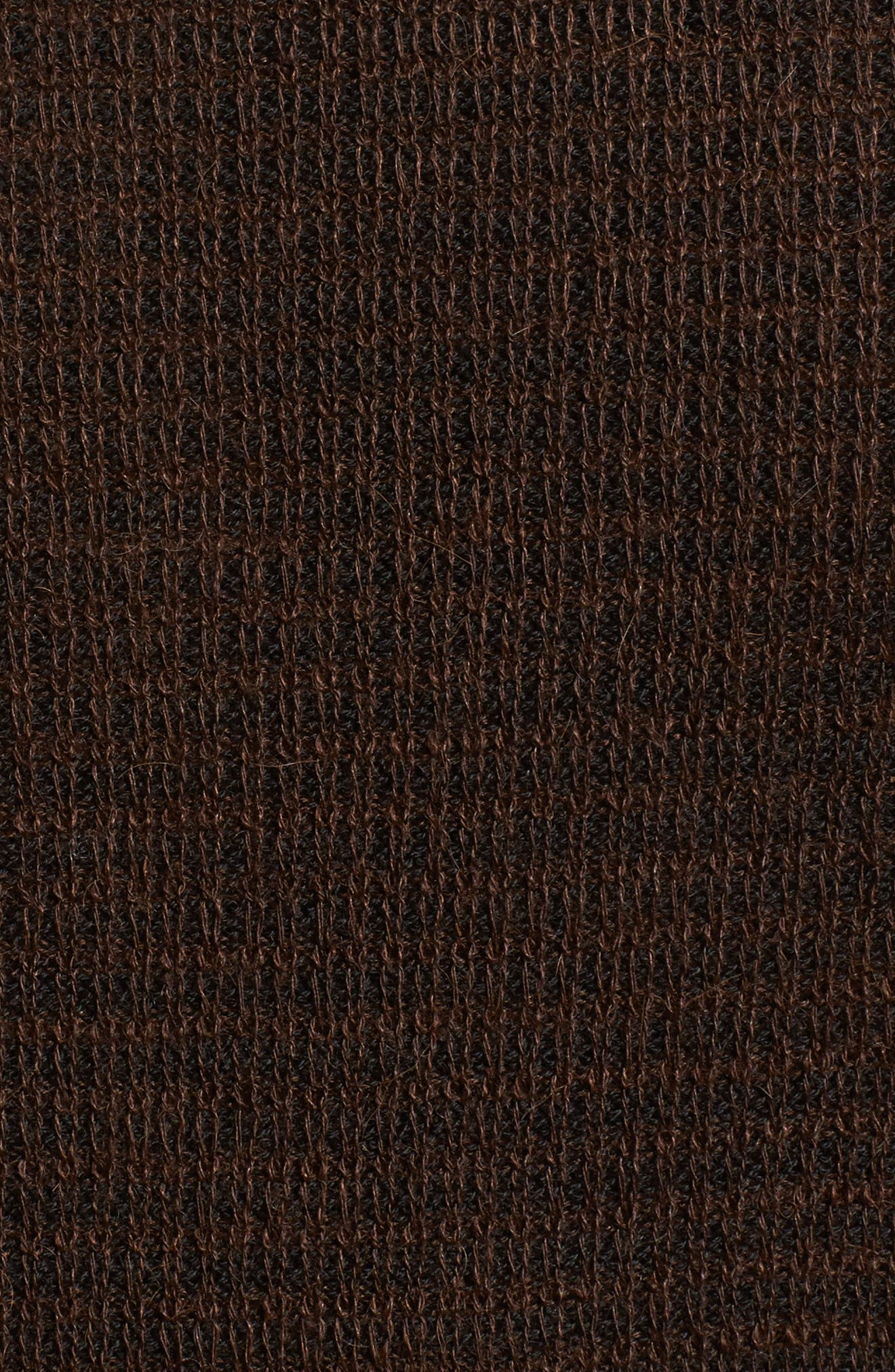 Waffle Knit Sweater,                             Alternate thumbnail 5, color,                             Wood Brown
