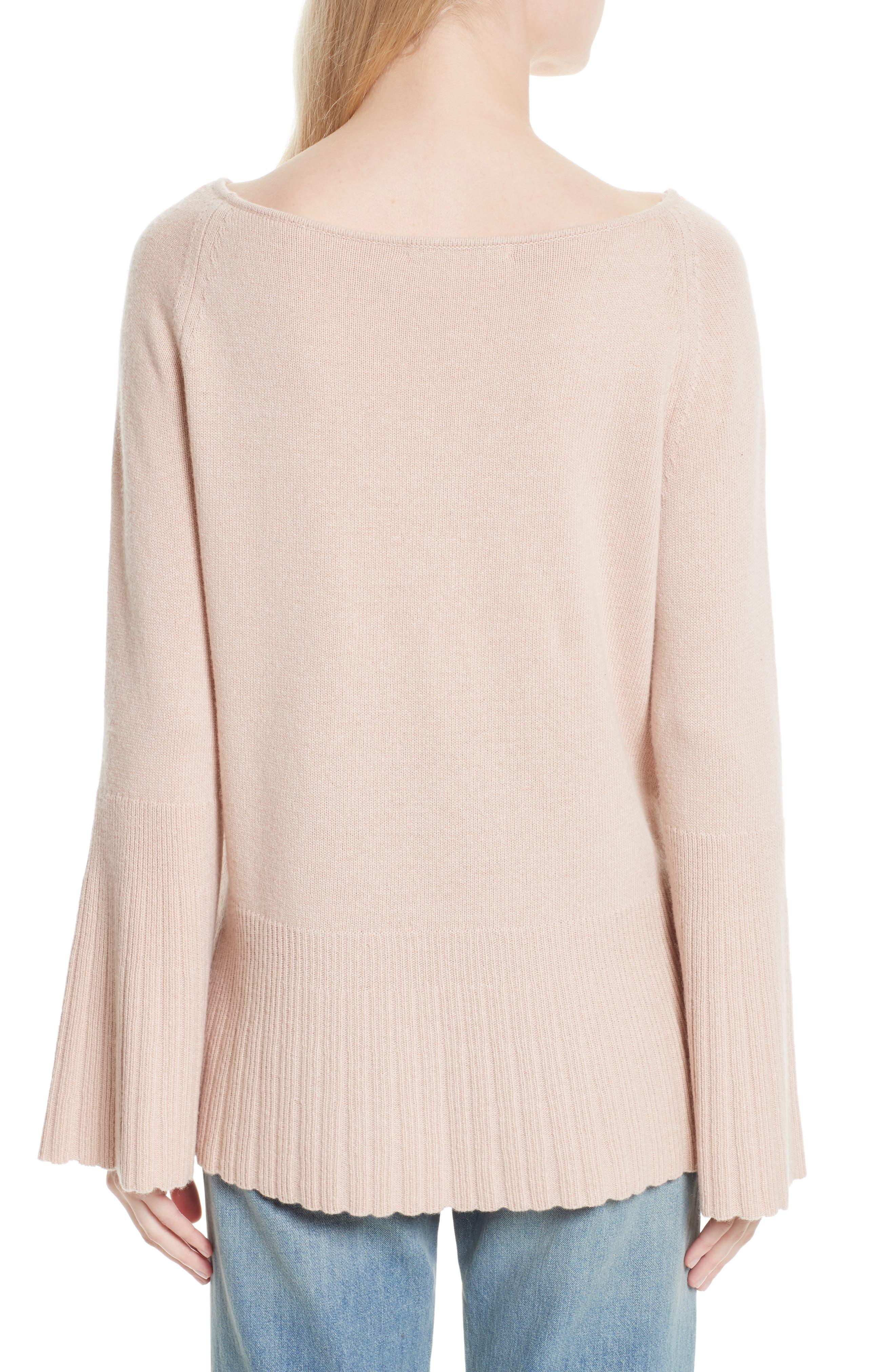 Alternate Image 2  - Elizabeth and James Clarette Bell Sleeve Sweater
