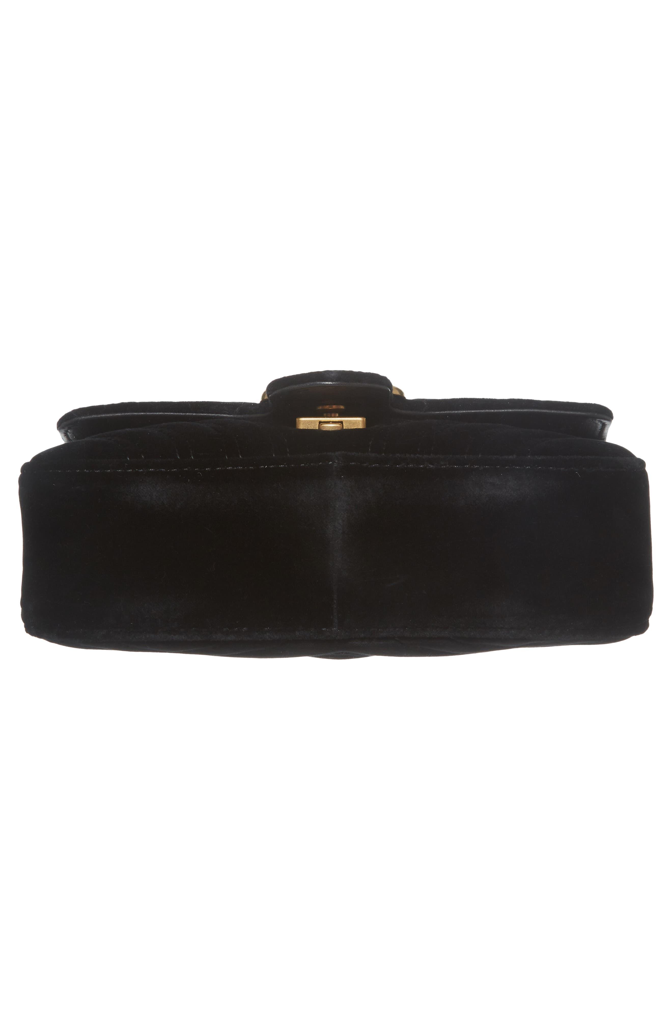 Alternate Image 8  - Gucci Small GG Marmont 2.0 Matelassé Velvet Shoulder Bag