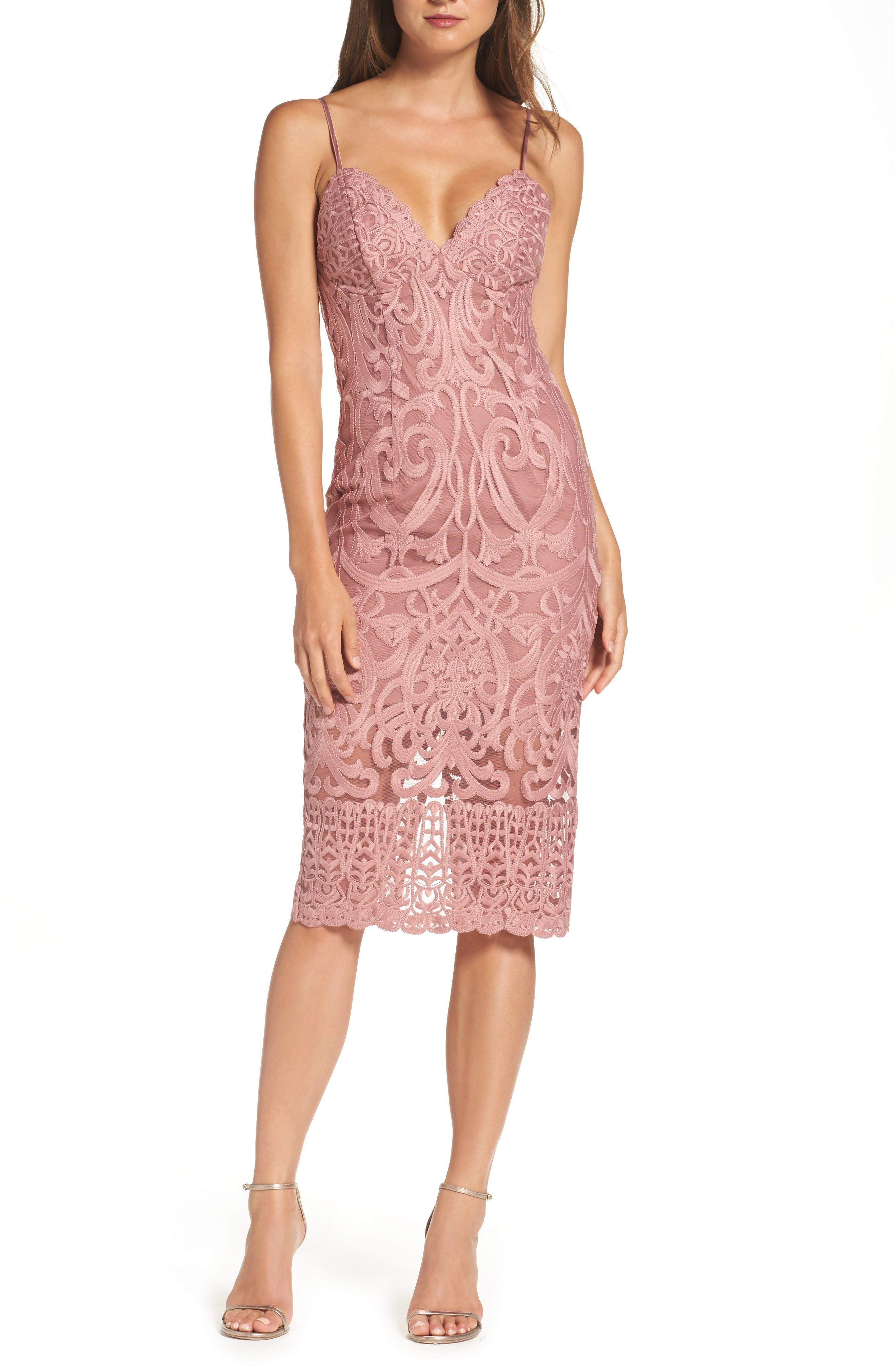 Bardot Gia Lace Pencil Dress Nordstrom