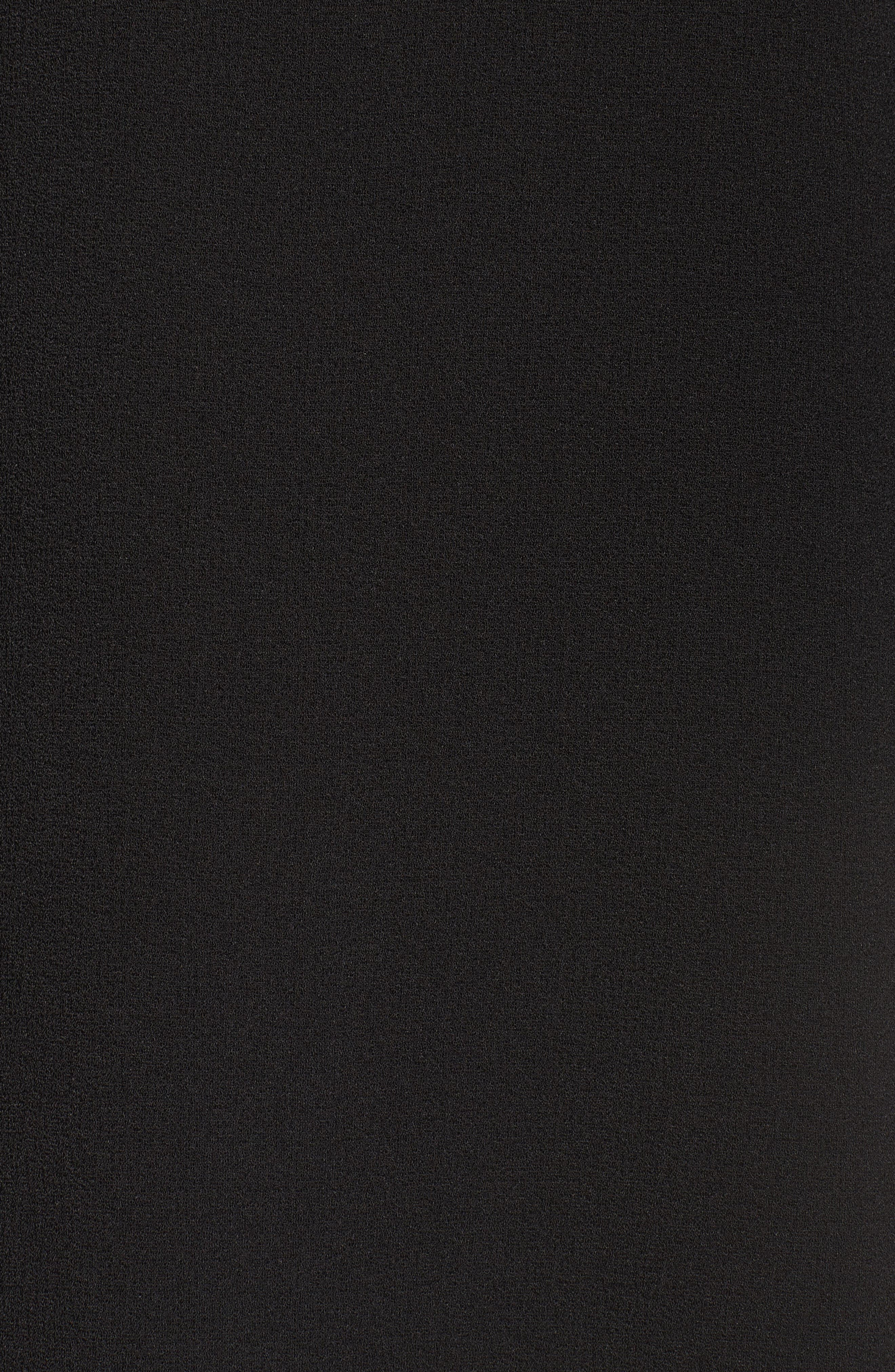 Ruffle Sleeve Shift Dress,                             Alternate thumbnail 5, color,                             Black