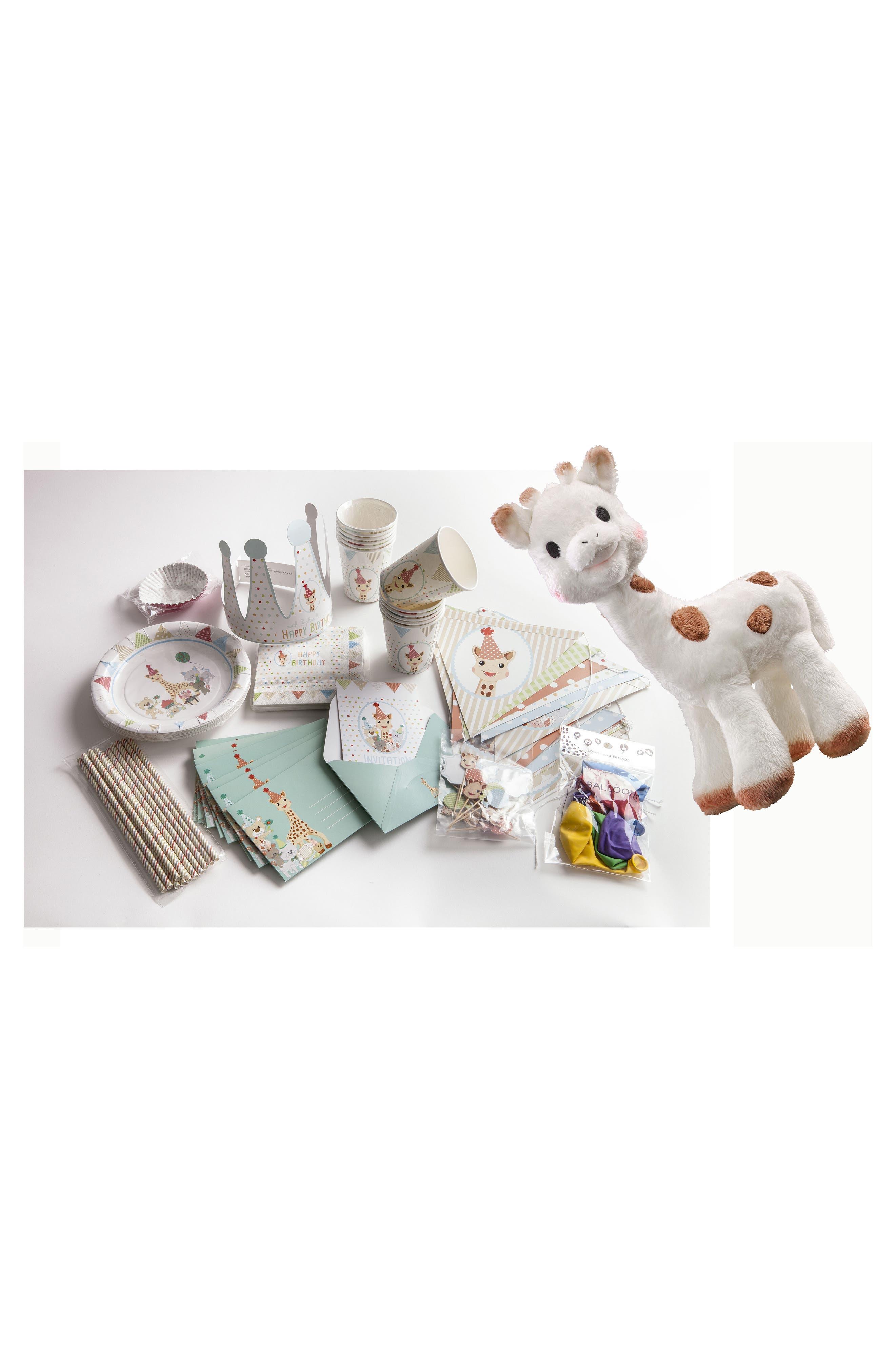 Main Image - Sophie la Girafe Sophie Cherie Plush & Bundle Birthday Party Kit
