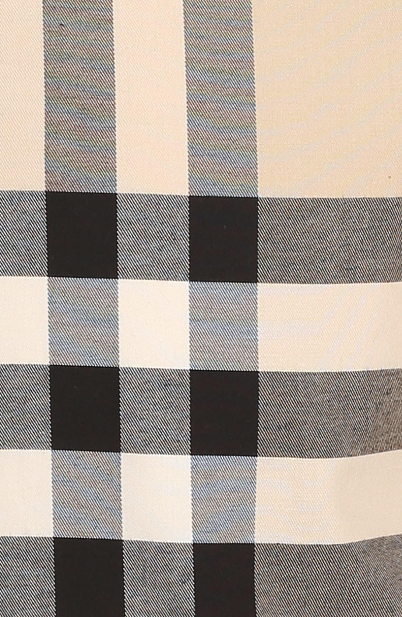 Dawny Check Print Sleeveless Dress,                             Alternate thumbnail 3, color,                             Heritage Stone