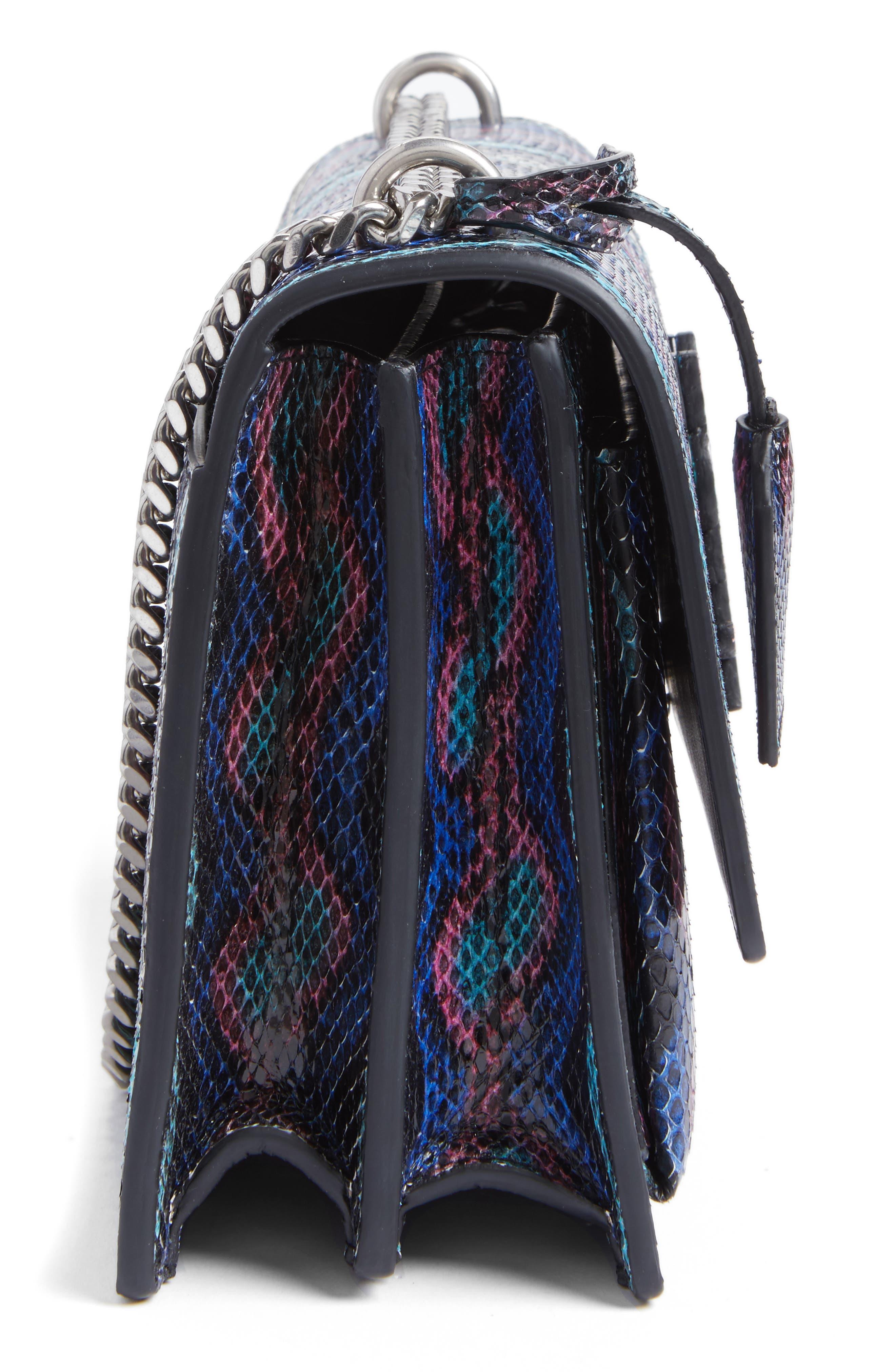 Medium Monogram Sunset Genuine Snakeskin Crossbody Bag,                             Alternate thumbnail 5, color,                             Black Multi