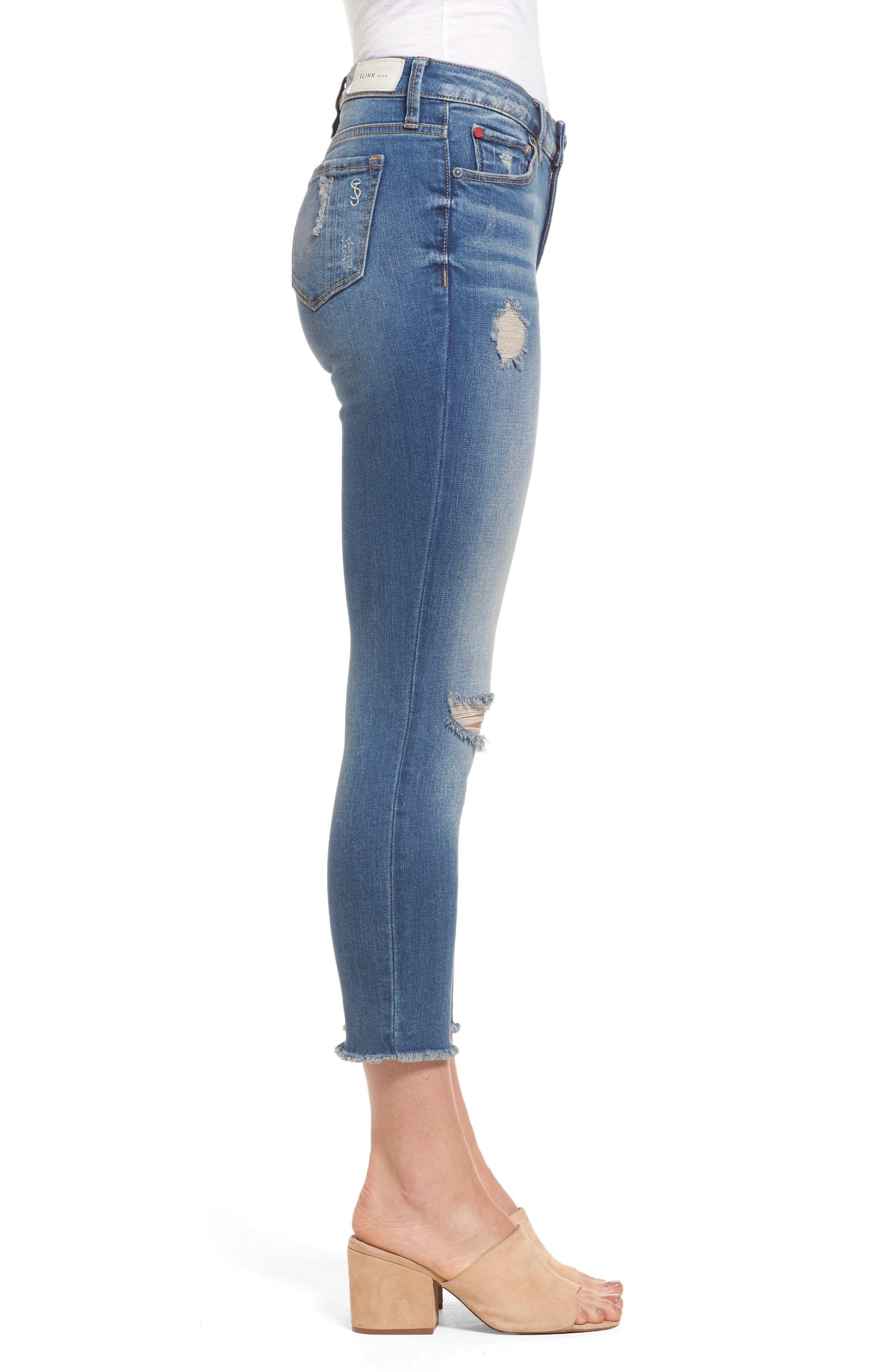 Alternate Image 3  - SLINK Jeans Frayed Hem Crop Jeans (Caralyn)