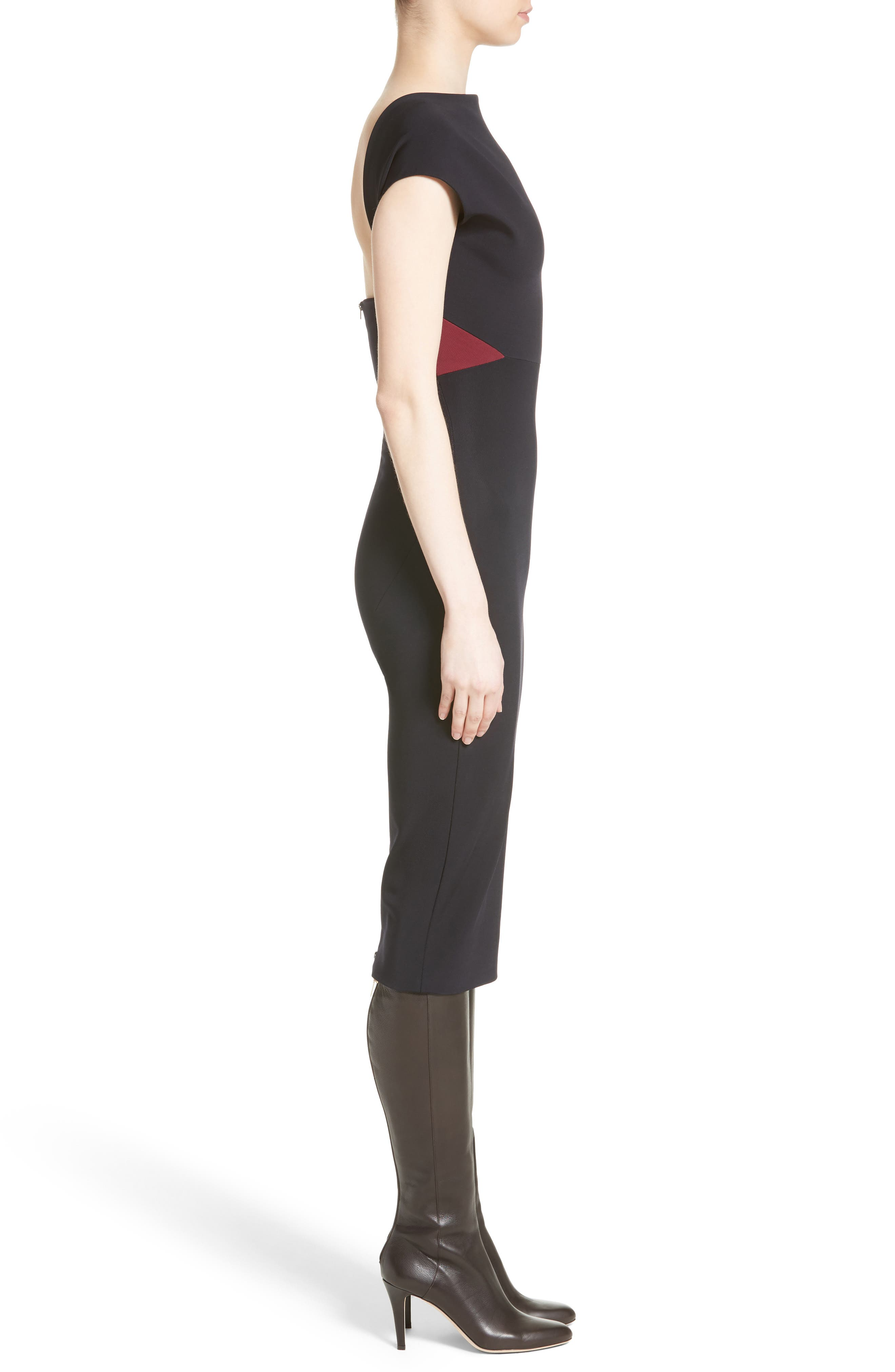 Alternate Image 3  - Victoria Beckham Open Back Rib Knit Dress