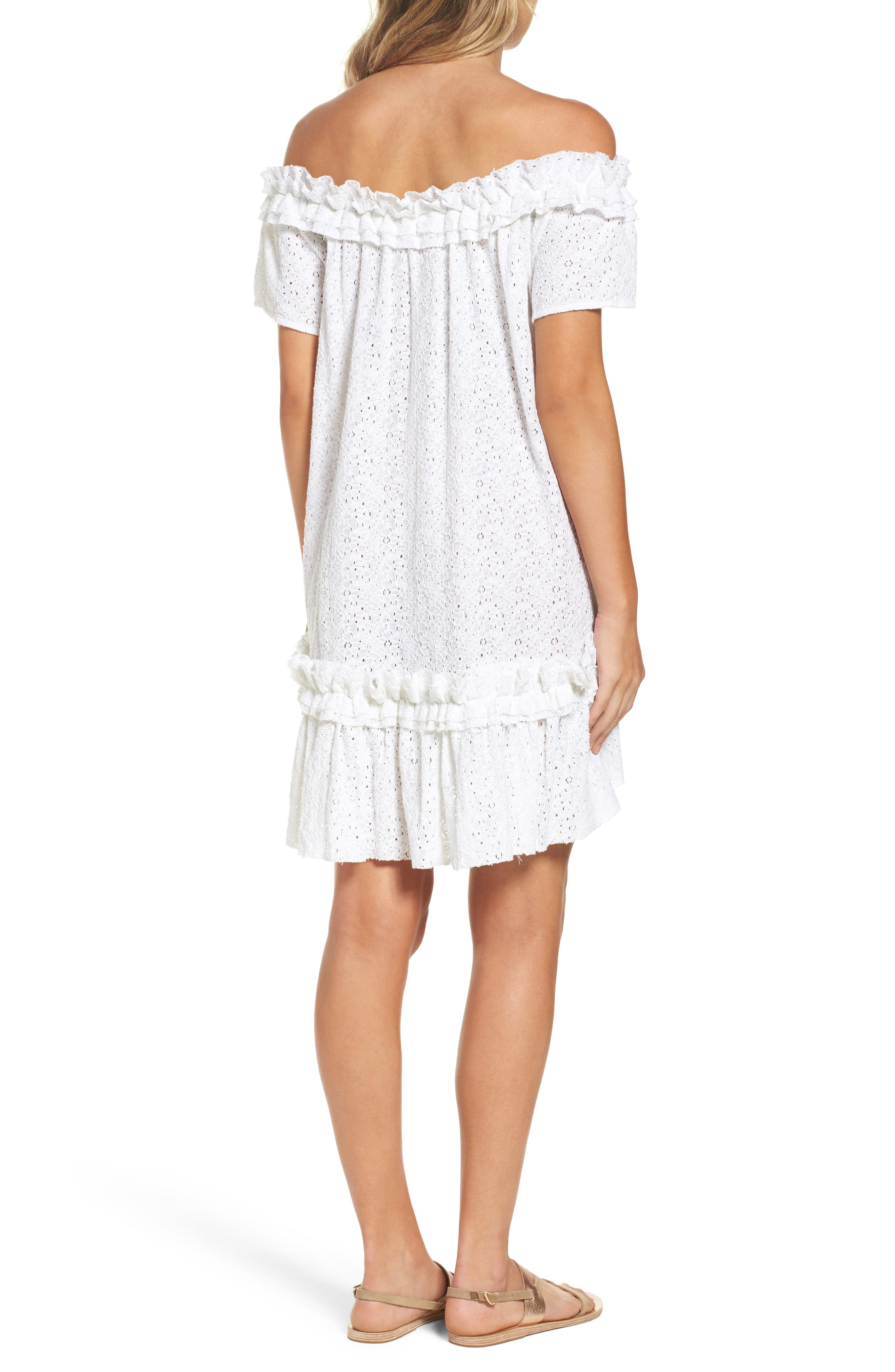 Mojito Cover-Up Dress,                             Alternate thumbnail 2, color,                             White