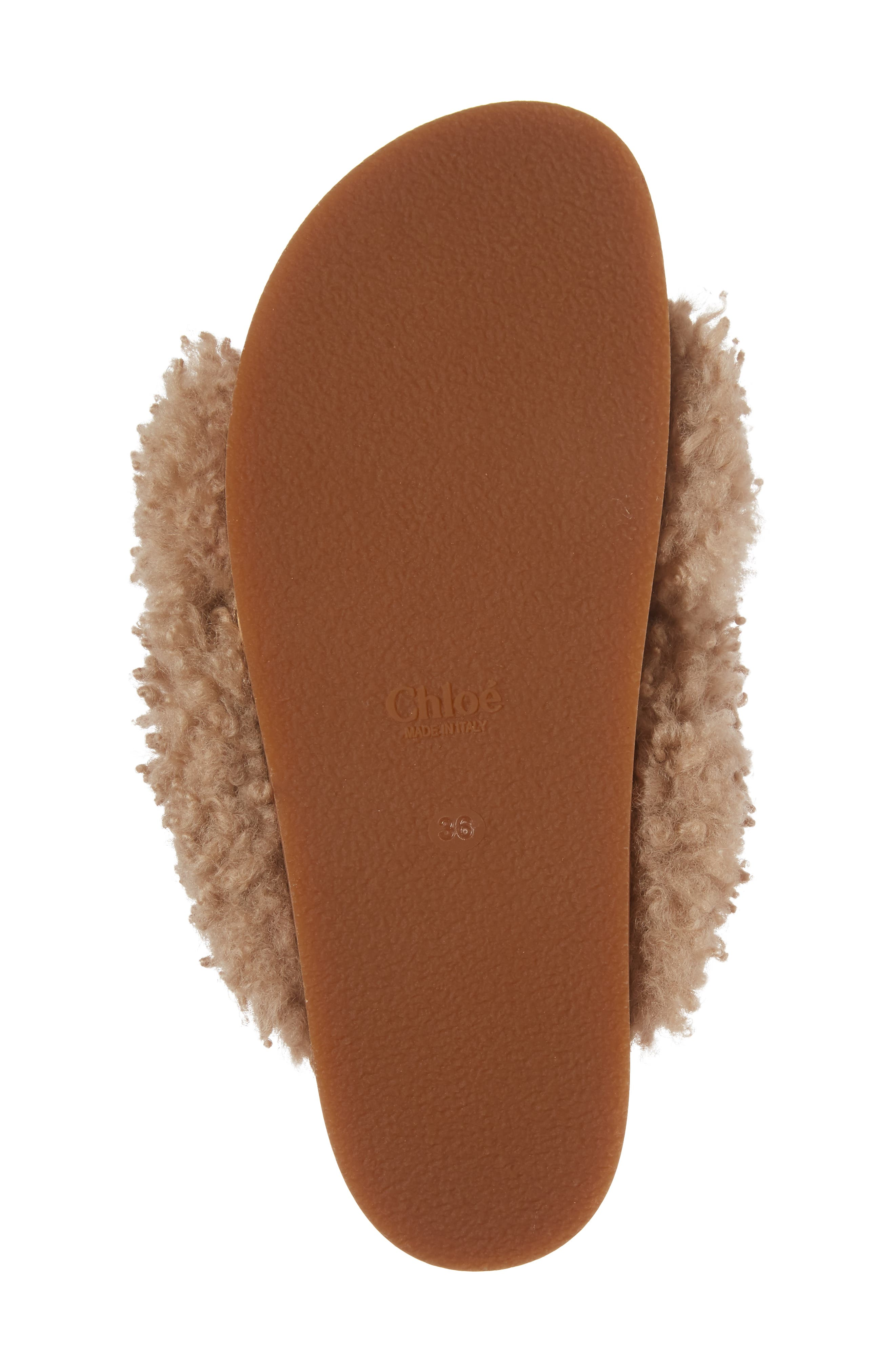 Alternate Image 6  - Chloé Kerenn Genuine Shearling Sandal (Women)
