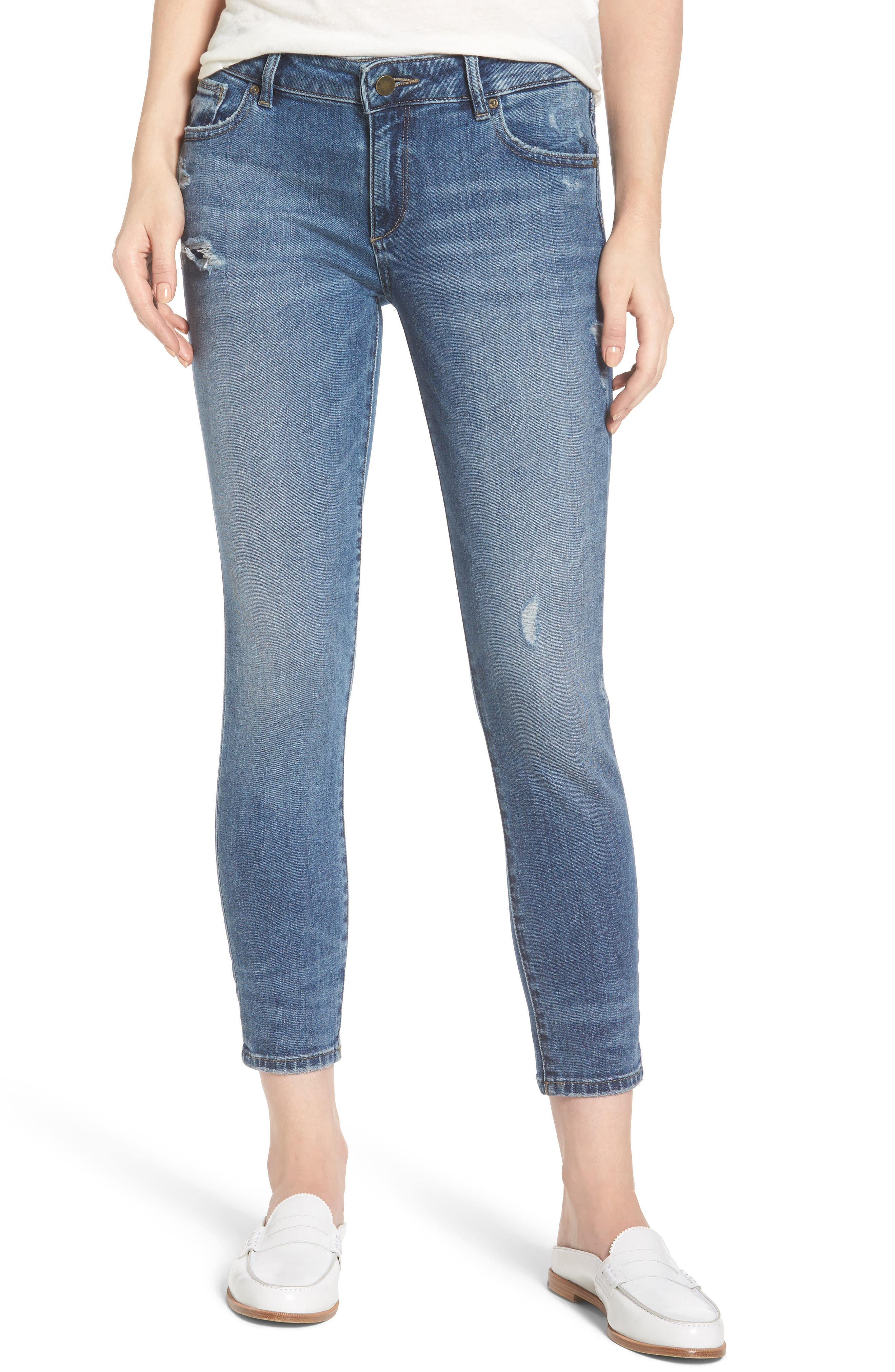 DL1961 Davis Slim Crop Girlfriend Jeans (Plymouth)