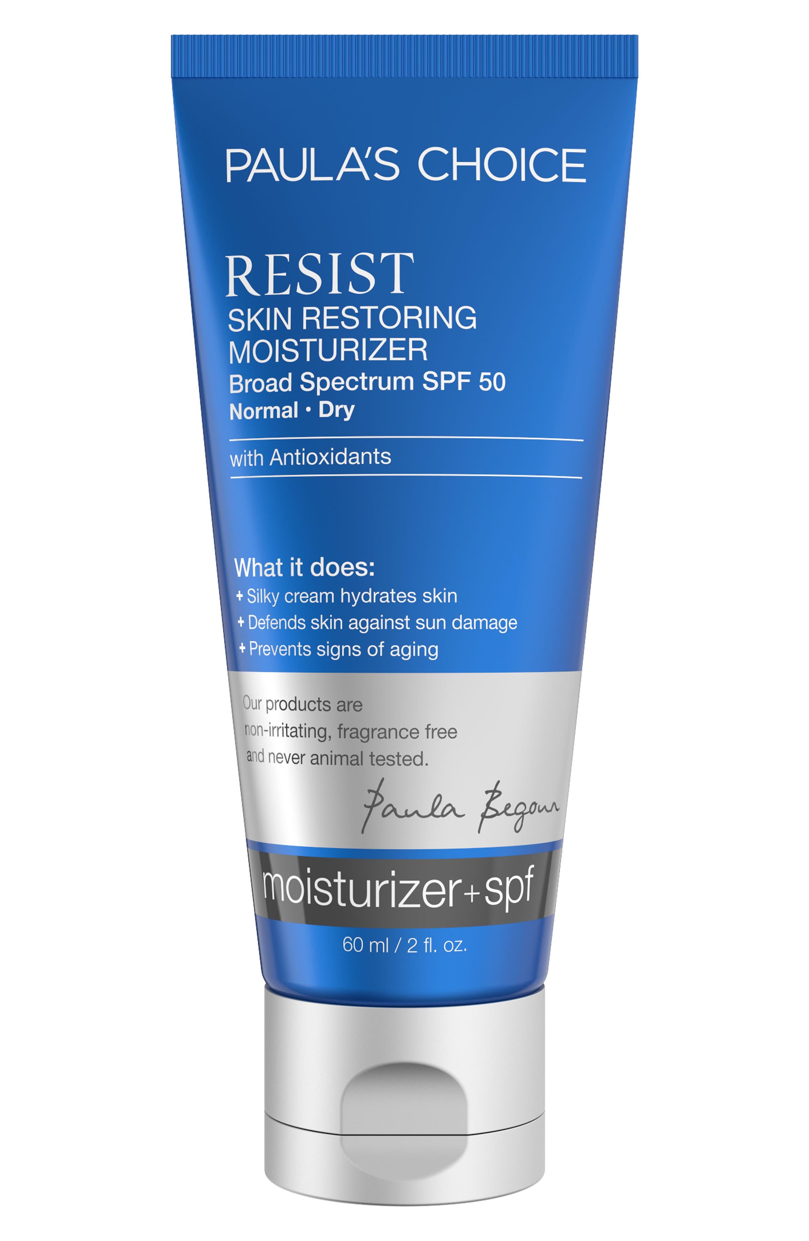 Resist Skin Restoring Moisturizing SPF 50,                         Main,                         color, No Color