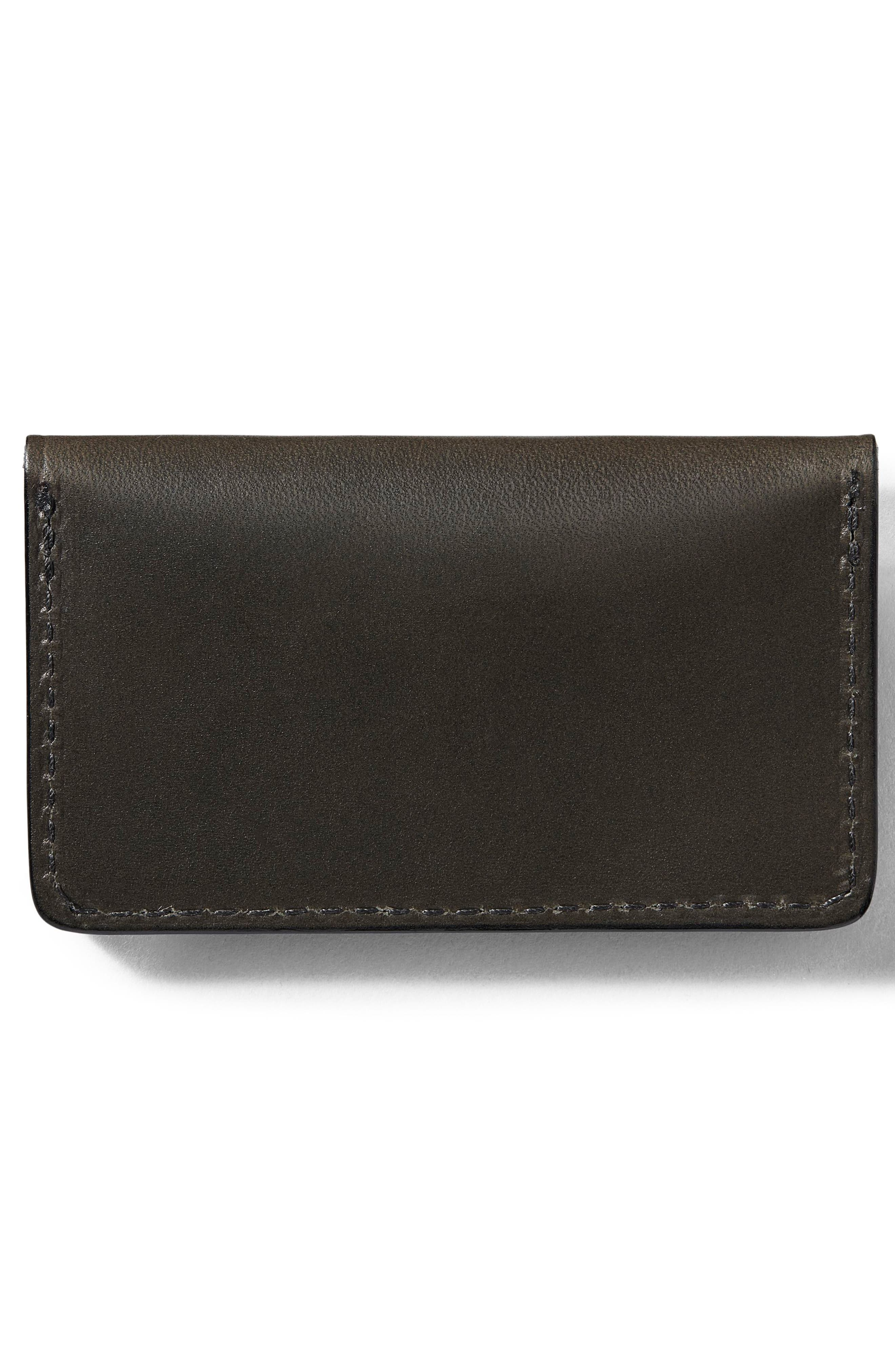 Snap Leather Wallet,                             Alternate thumbnail 2, color,                             Brown