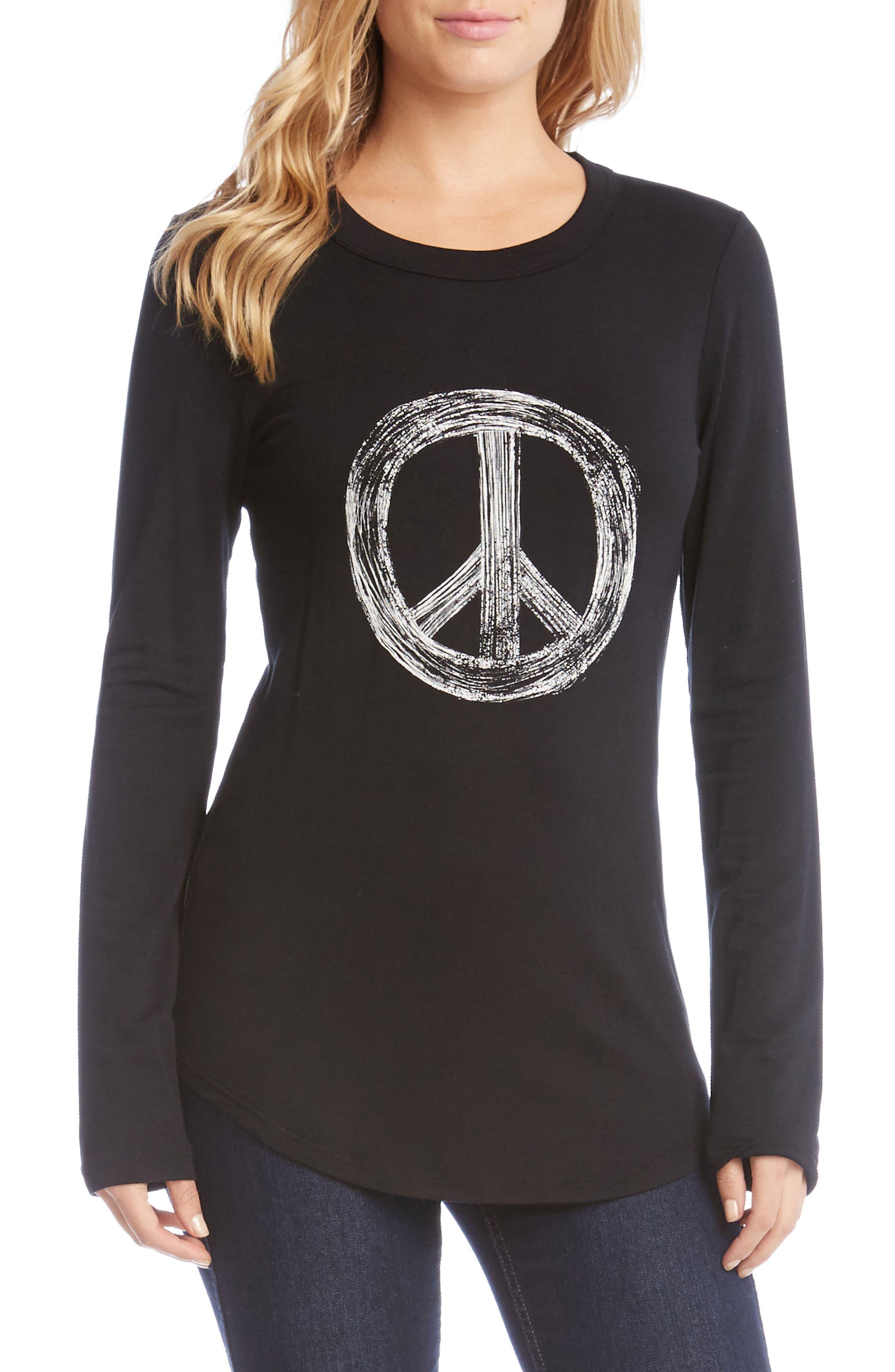 Alternate Image 1 Selected - Karen Kane World Peace Tee