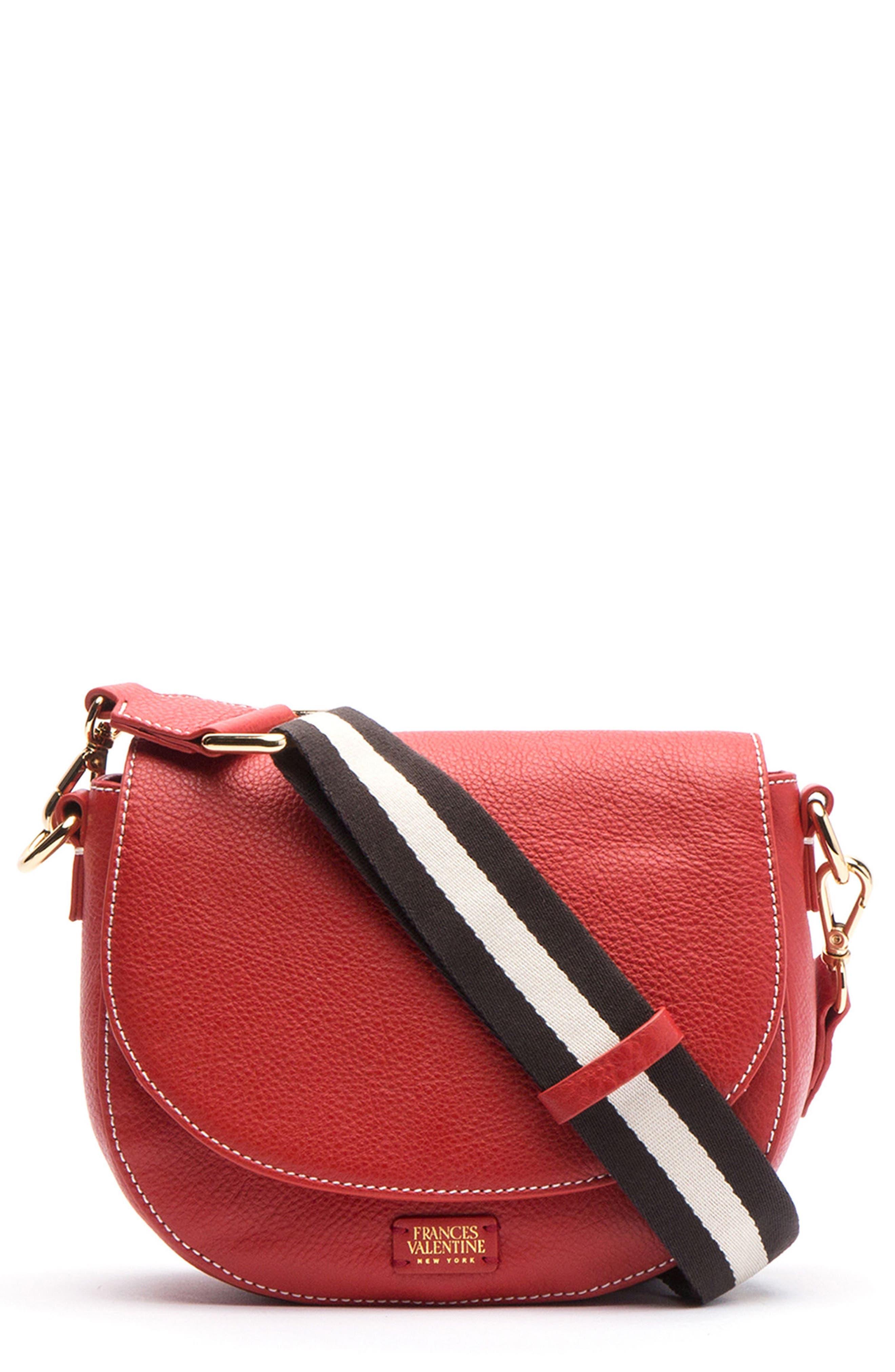 FRANCES VALENTINE Mini Ellen Leather Crossbody Bag