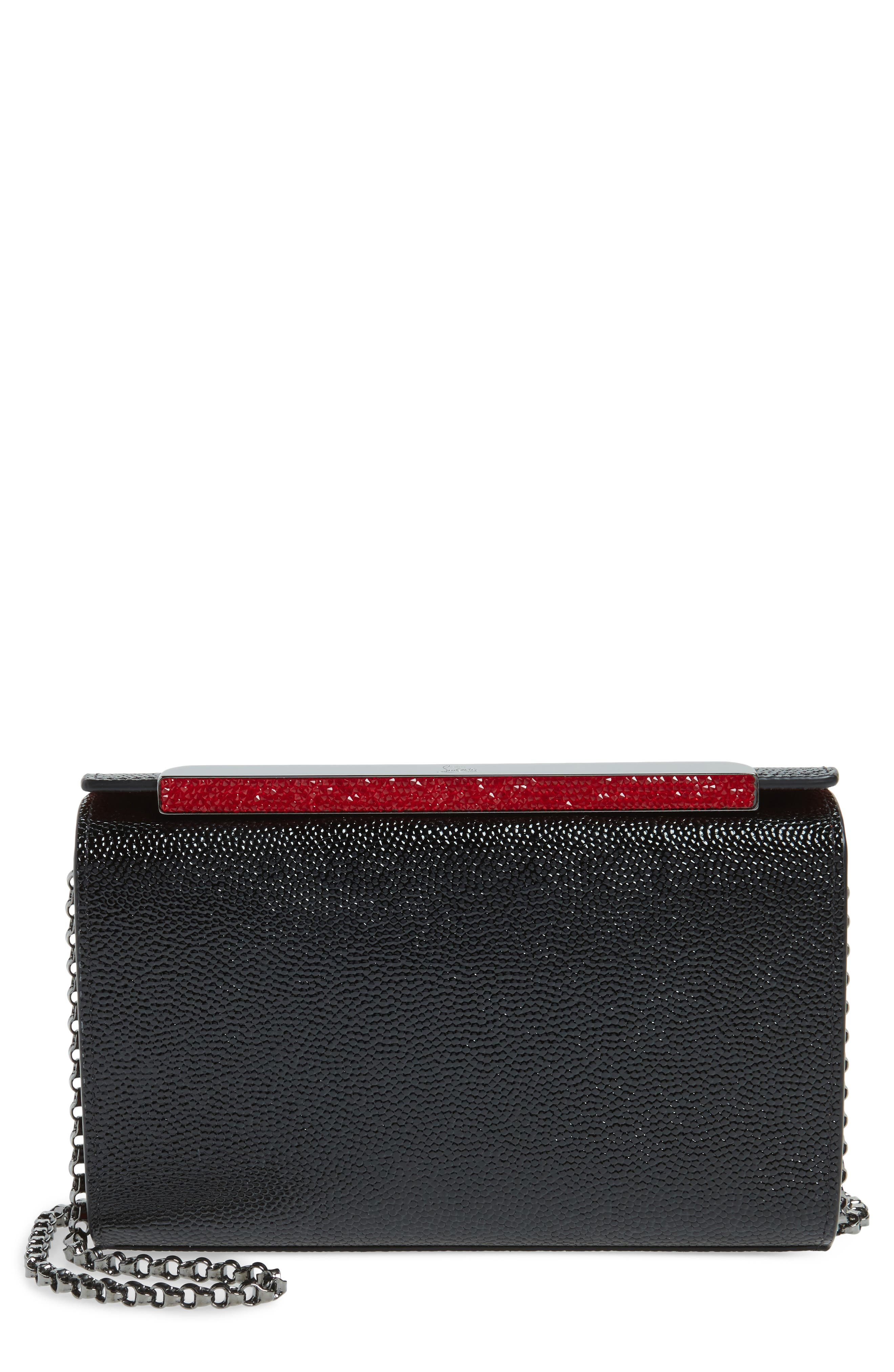 Christian Louboutin Small Vanite Calfskin Leather Clutch