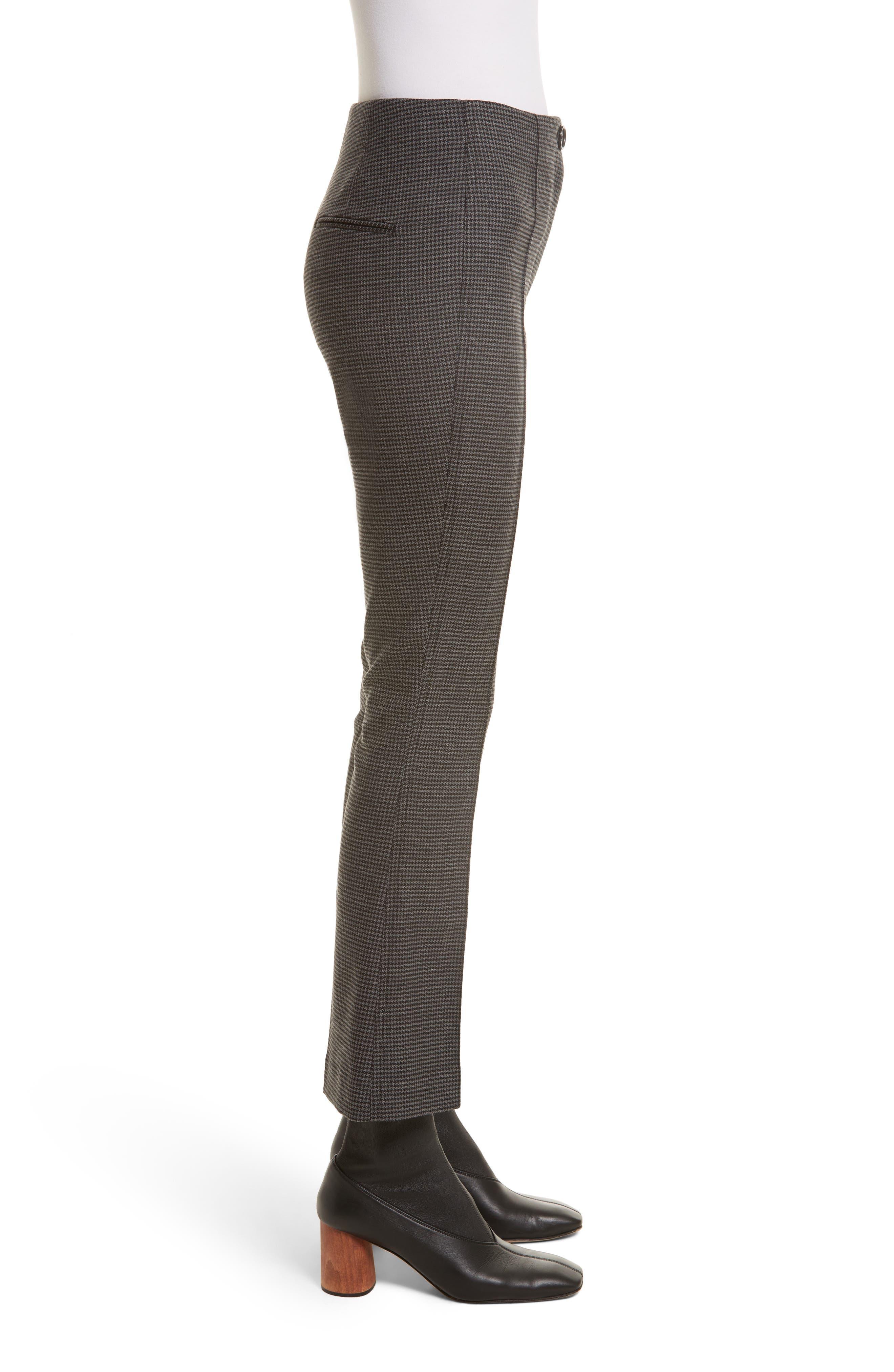 Alternate Image 4  - Helmut Lang Mini Houndstooth Crop Flare Pants