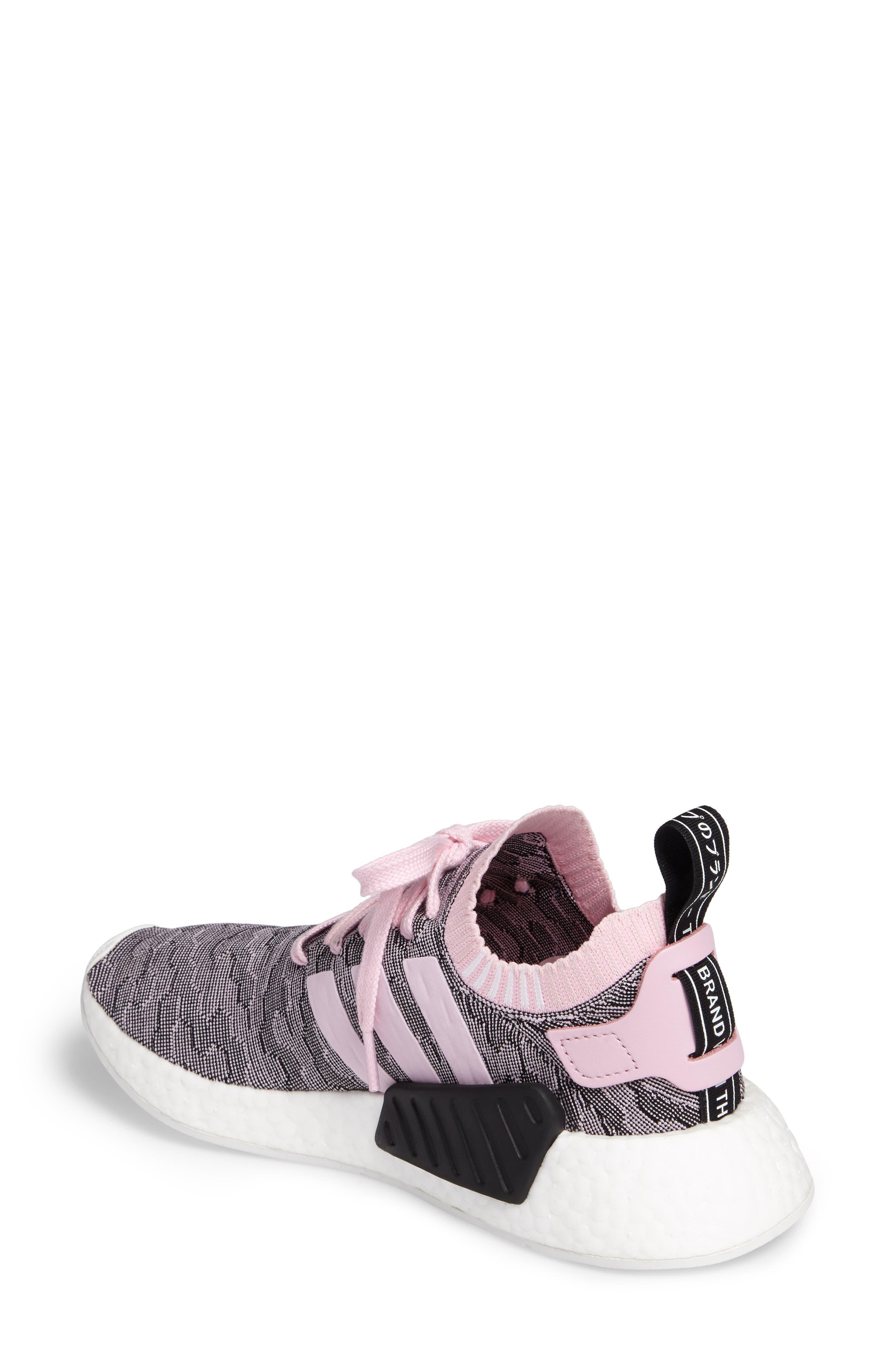 NMD R2 Primeknit Athletic Shoe,                             Alternate thumbnail 2, color,                             Wonder Pink/ Wonder Pink