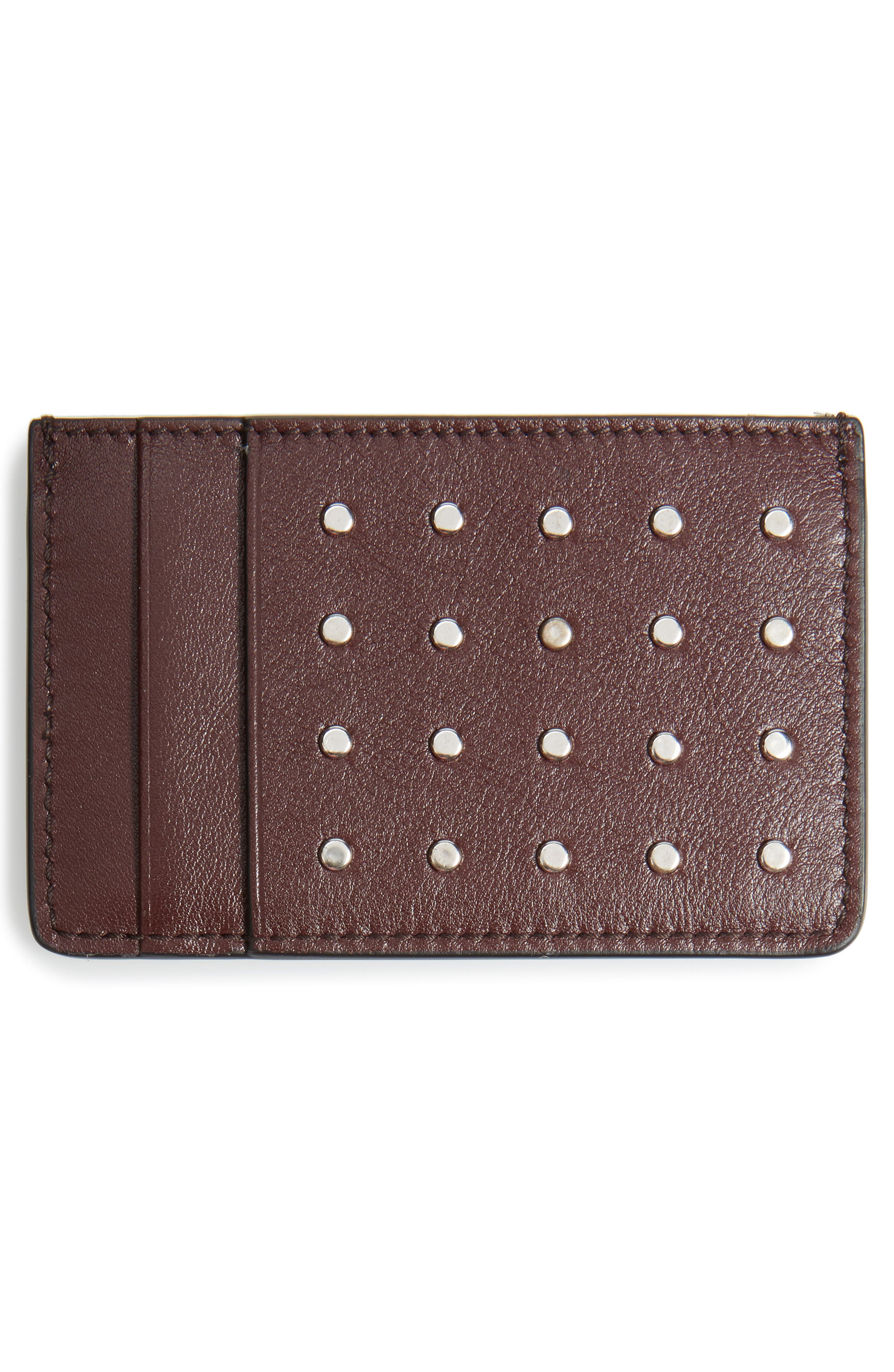 Alternate Image 2  - Alexander McQueen Studded Leather Card Case