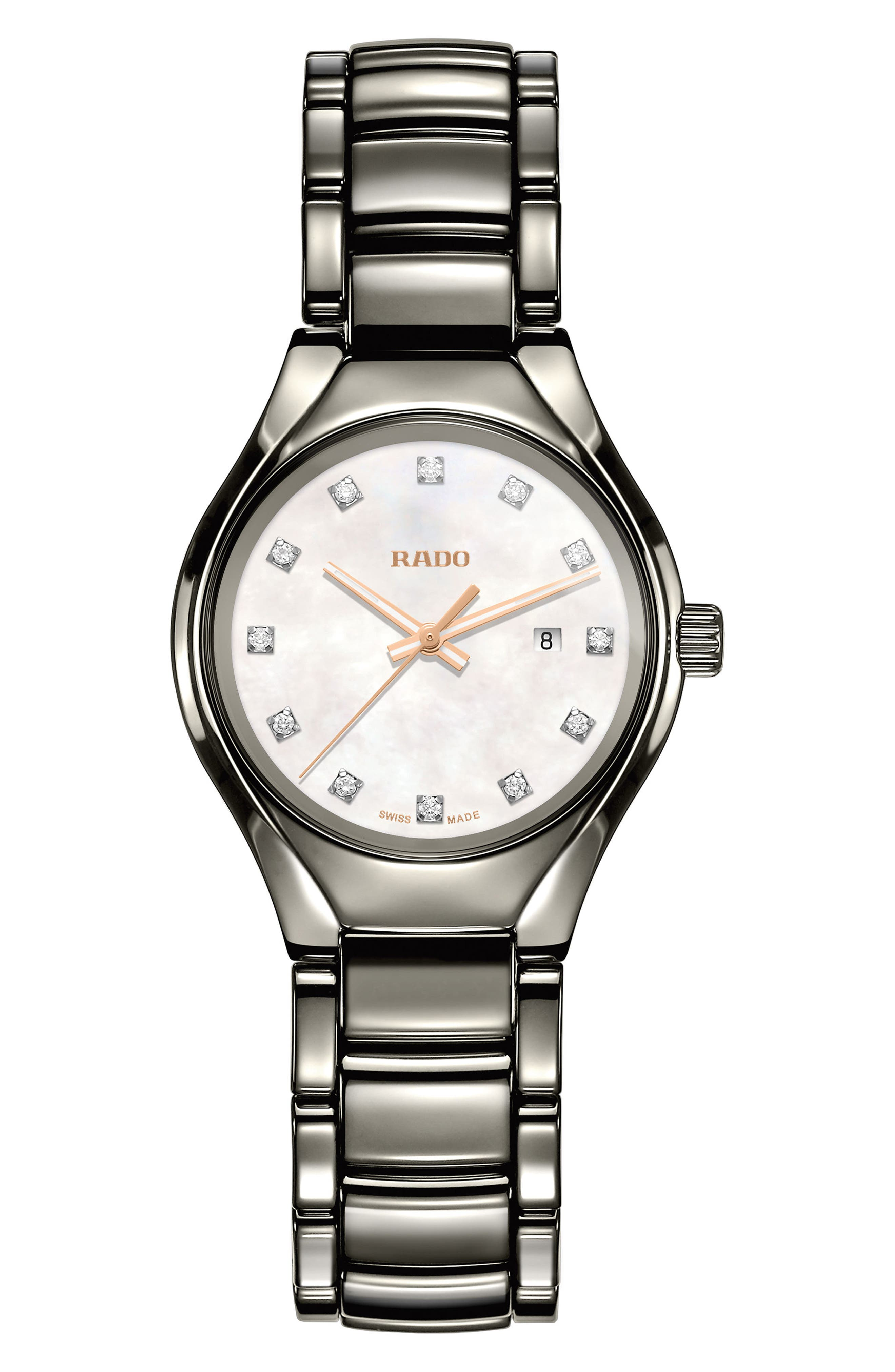 RADO True Diamond Marker Ceramic Bracelet Watch, 30mm