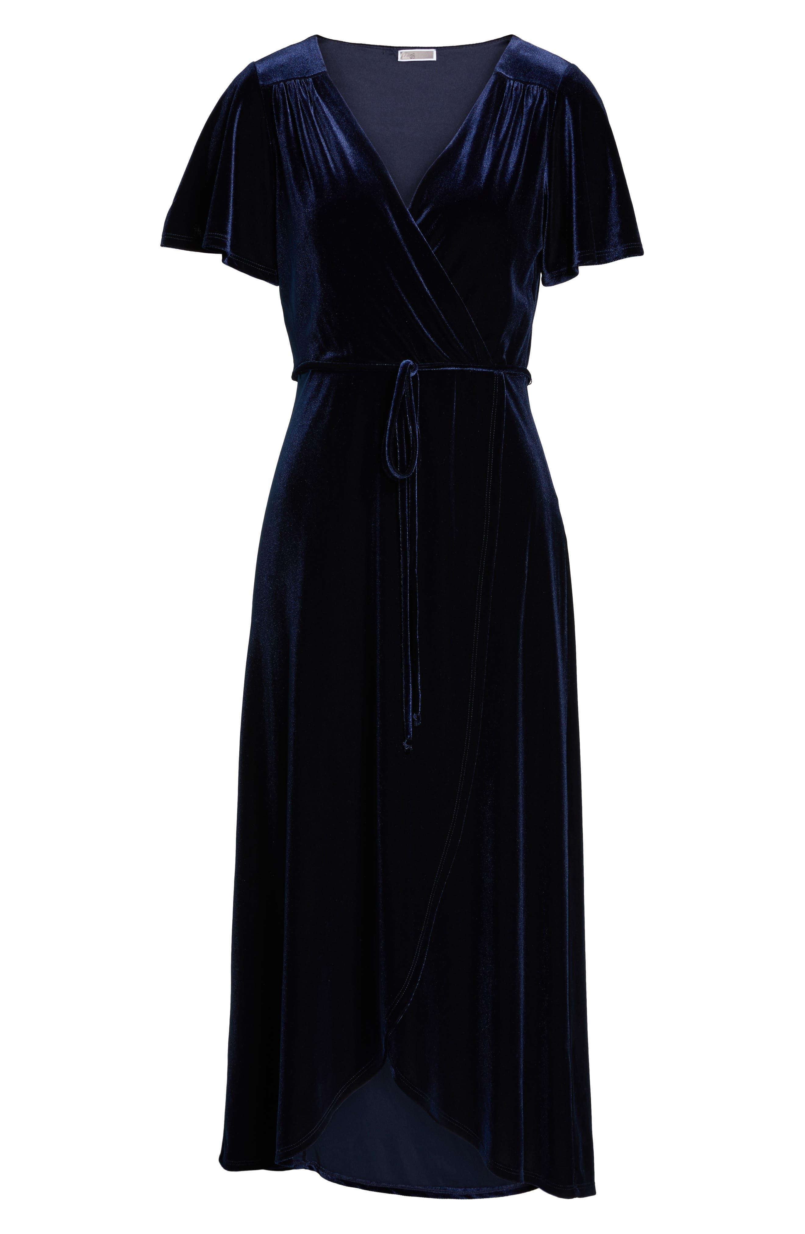 Alternate Image 6  - Chelsea28 Velvet Midi Dress