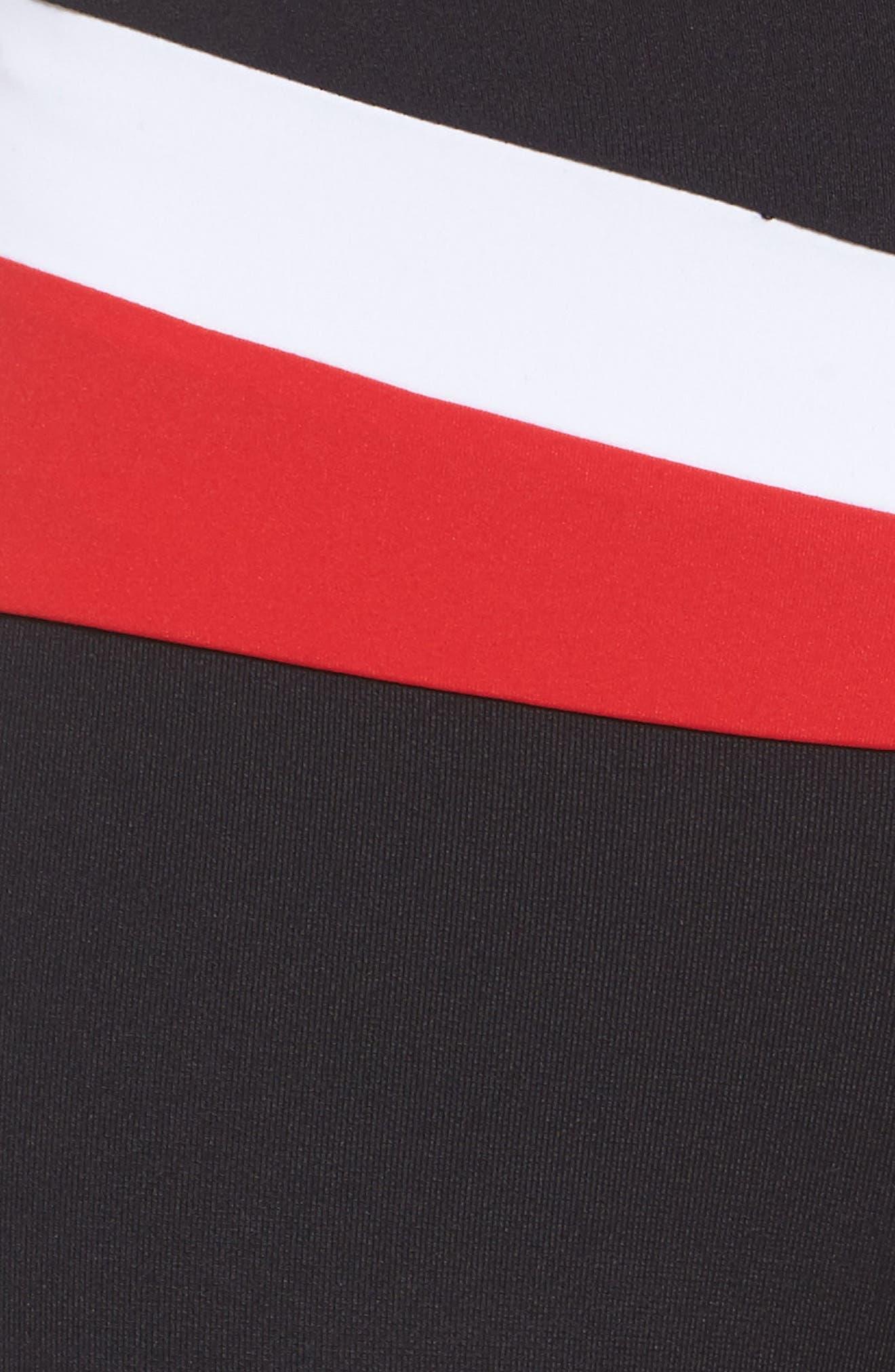 BoomBoom Athletica Leggings,                             Alternate thumbnail 6, color,                             Black/ White/ Red